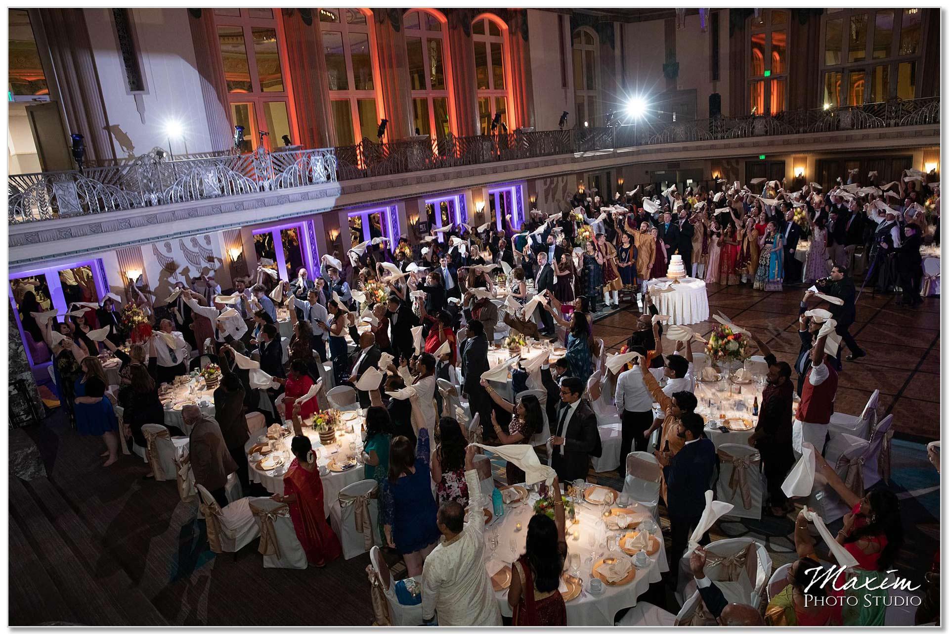 Hall of Mirrors Hilton Netherland Plaza Wedding Reception