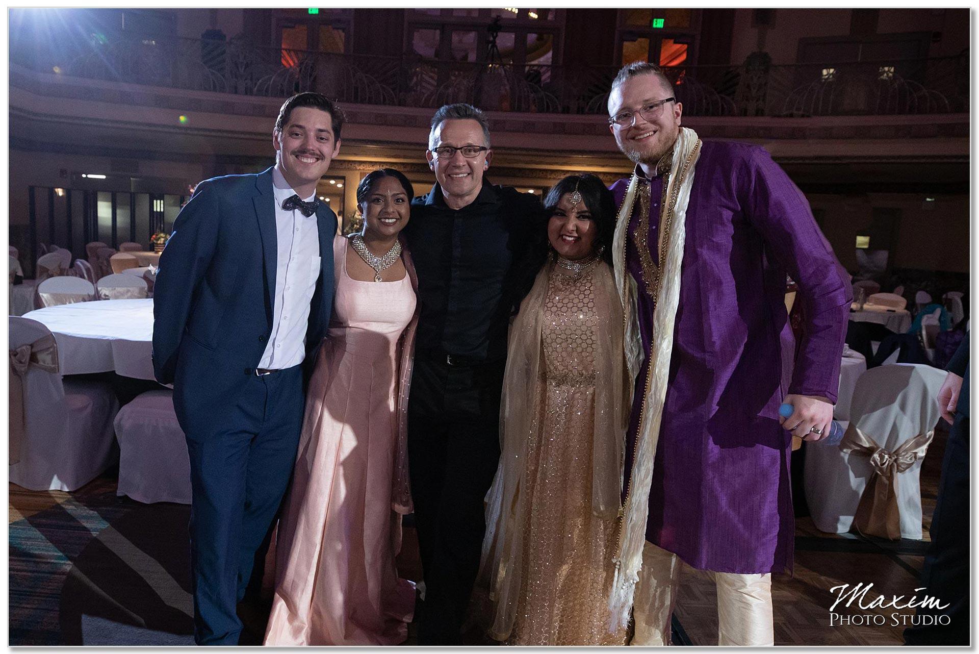 Hilton Netherland Plaza Indian Wedding couples