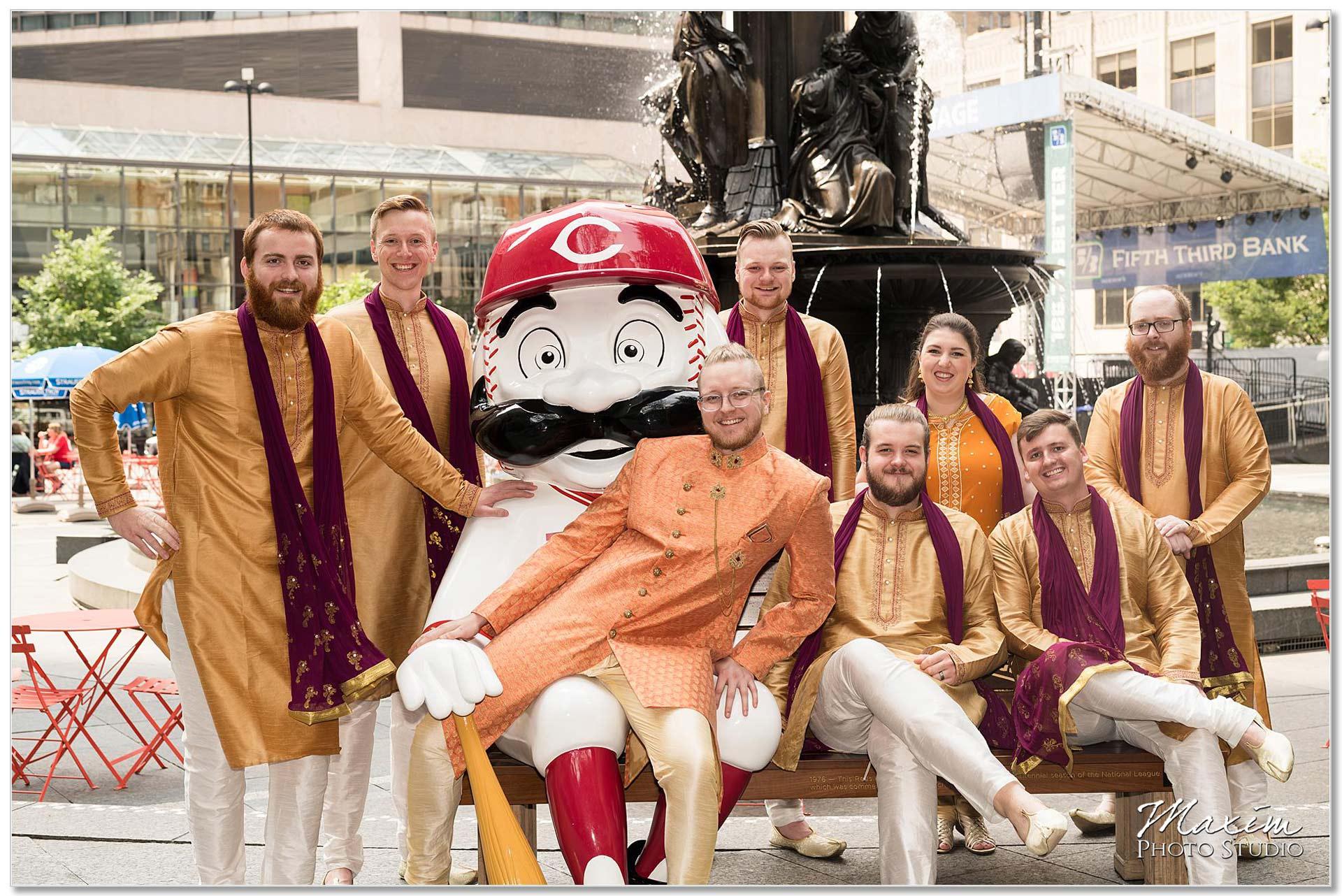 Fountain Square Cincinnati Indian Wedding