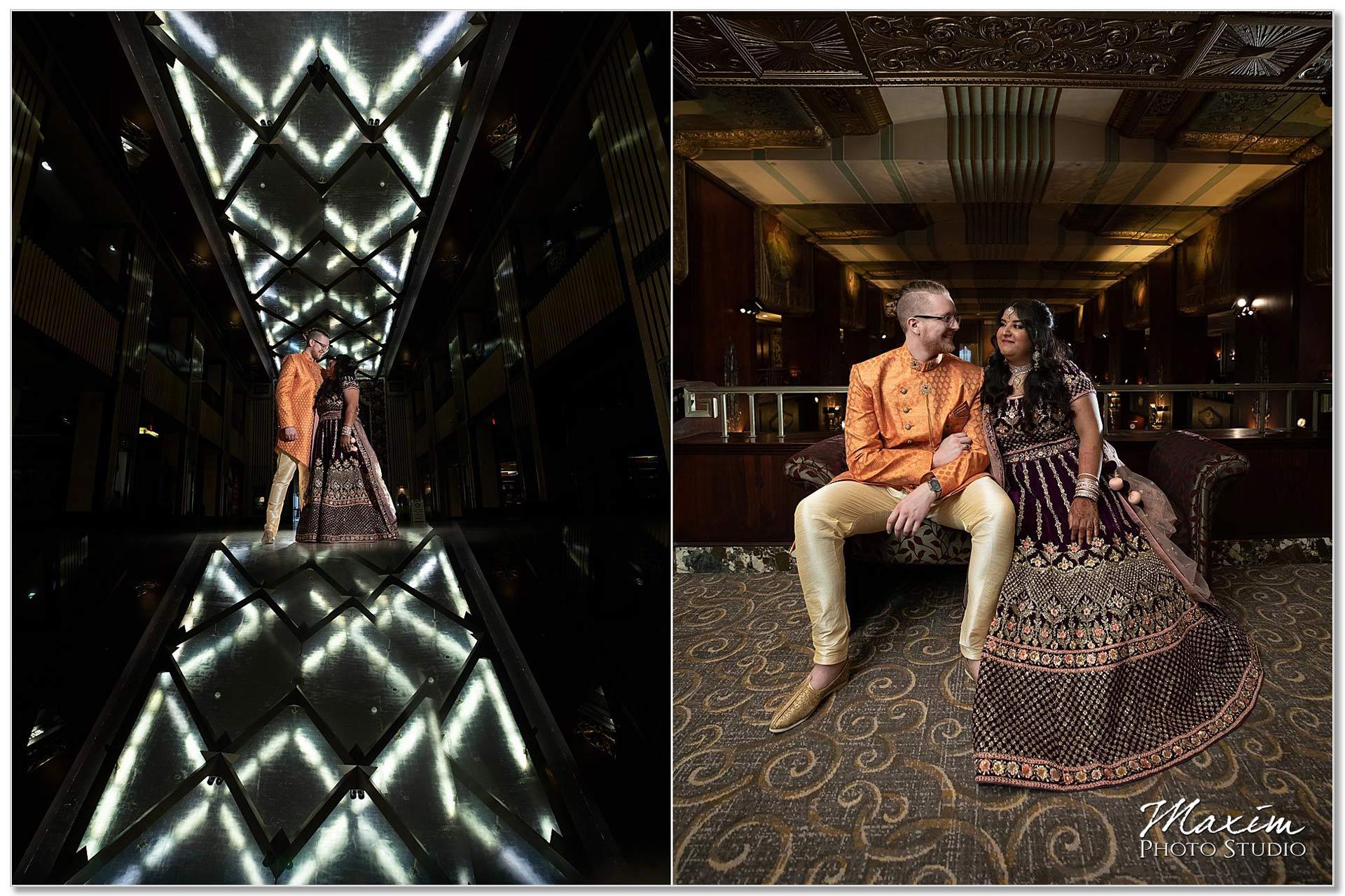 Hilton Netherland Plaza Bride groom Indian wedding