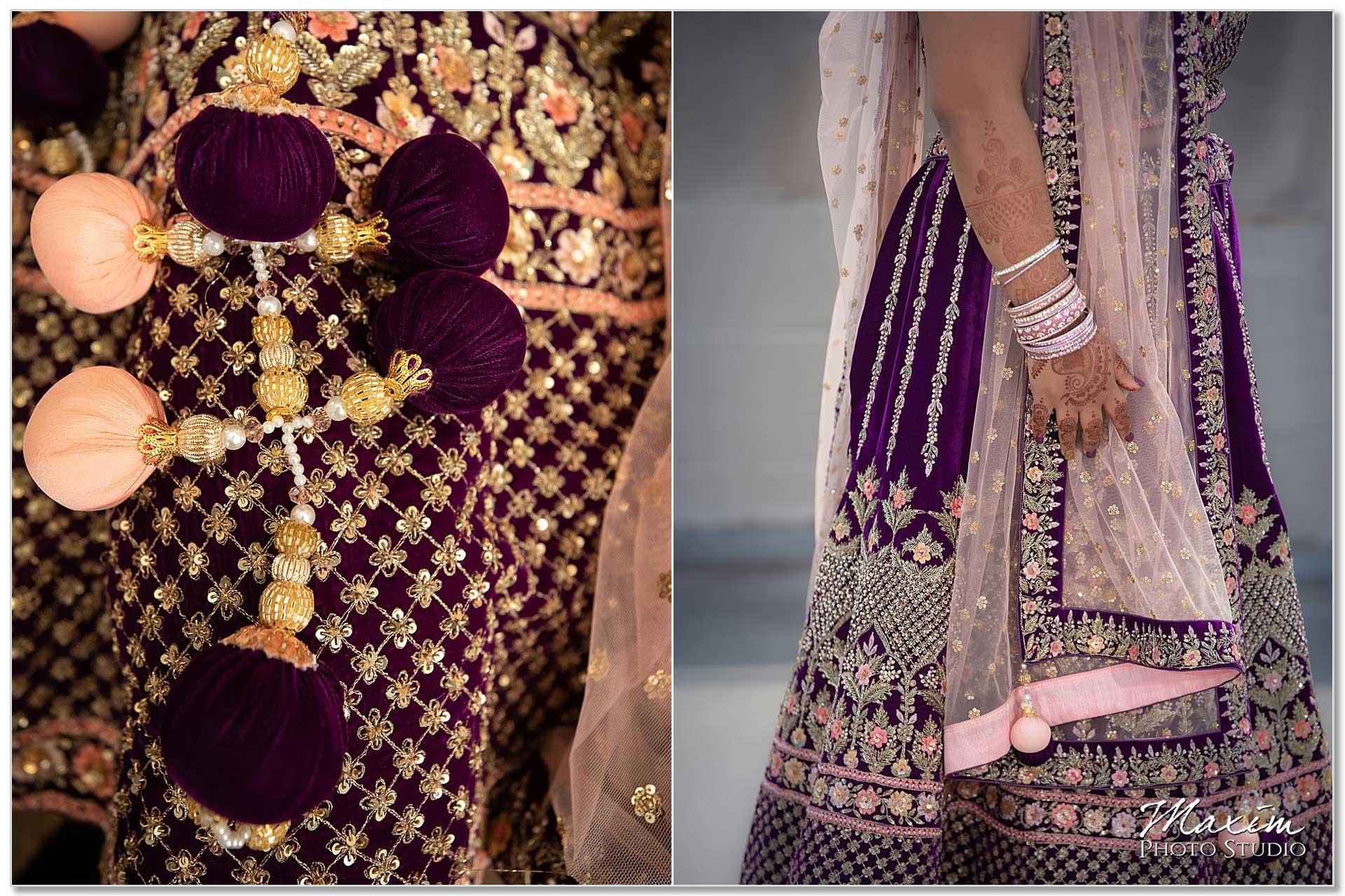 Hilton Netherland Plaza Wedding Indian sari details