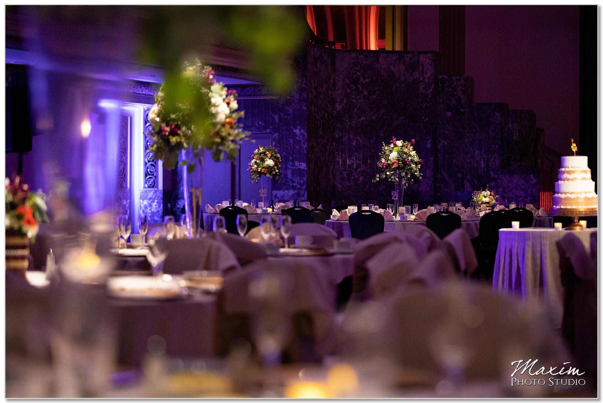 Hall of Mirrors Hilton Netherland Plaza Wedding Reception Decor
