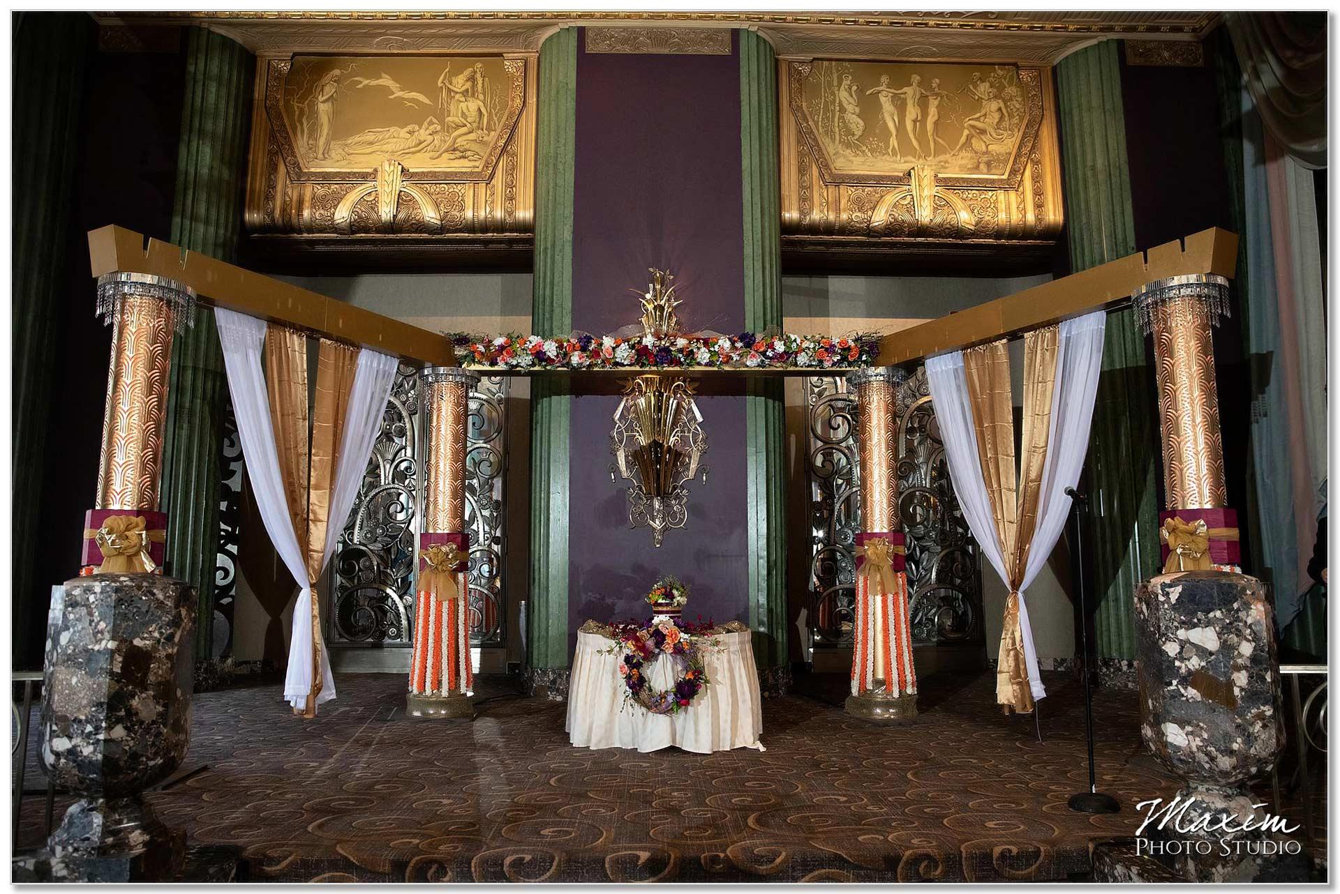 Continental Room Hilton Netherland Plaza Western Wedding