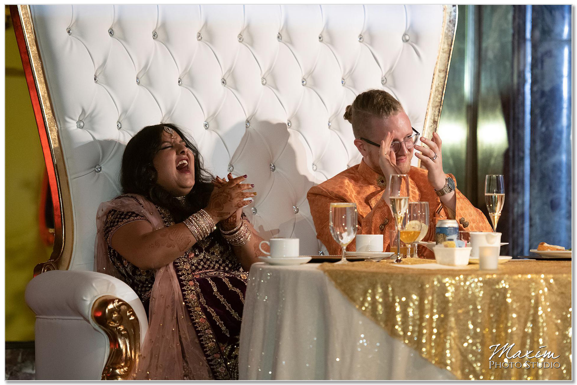 Hilton Netherland Plaza Hindu Wedding Reception toasts