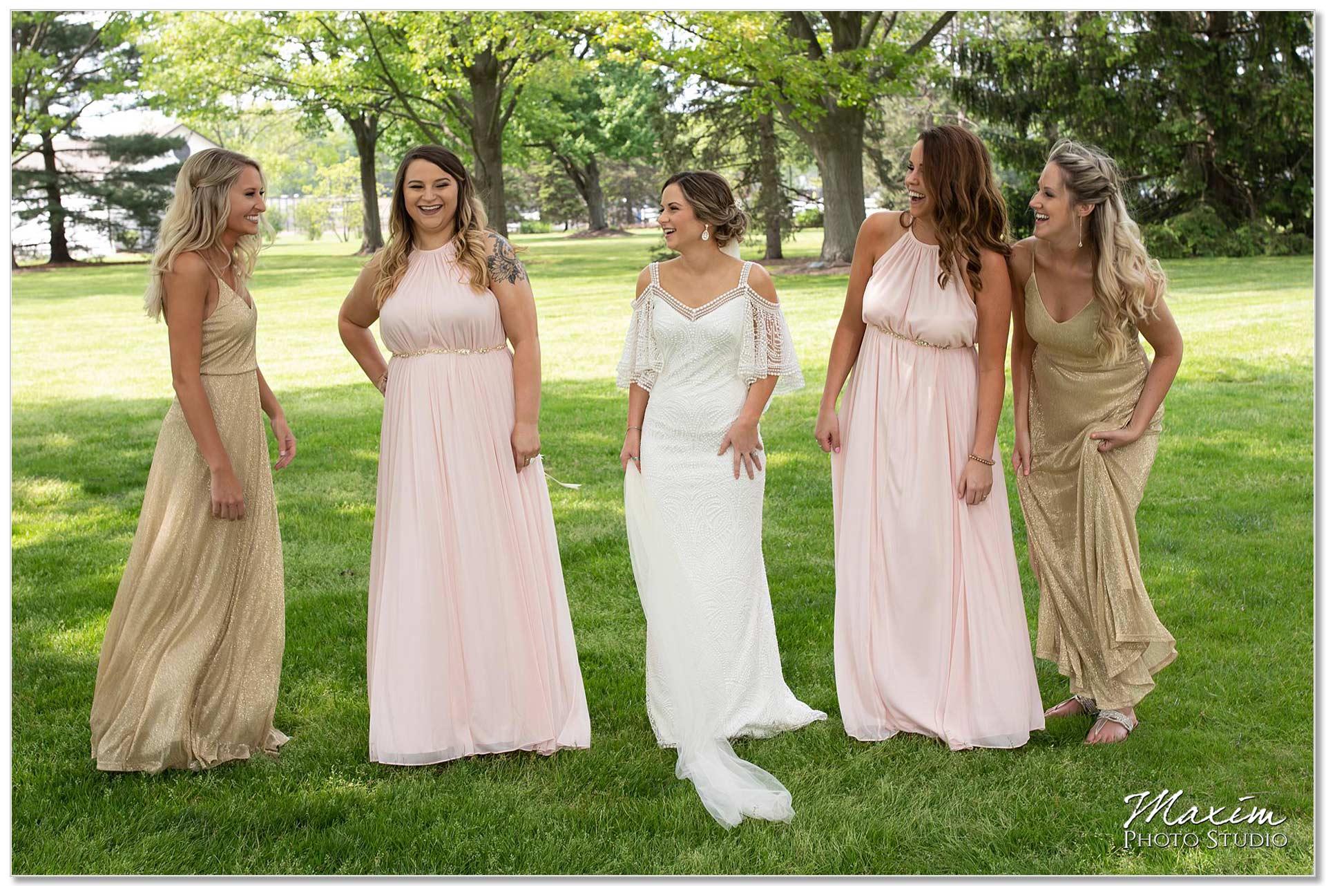 Polen Farm Wedding Bridesmaids