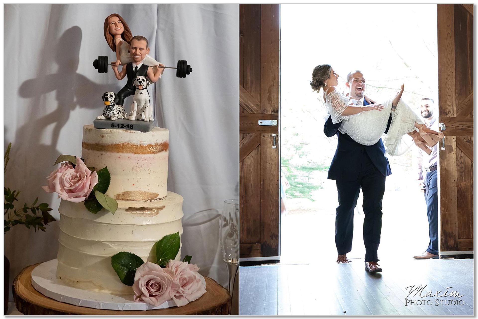 Cake topper bride groom reception Polen Farm