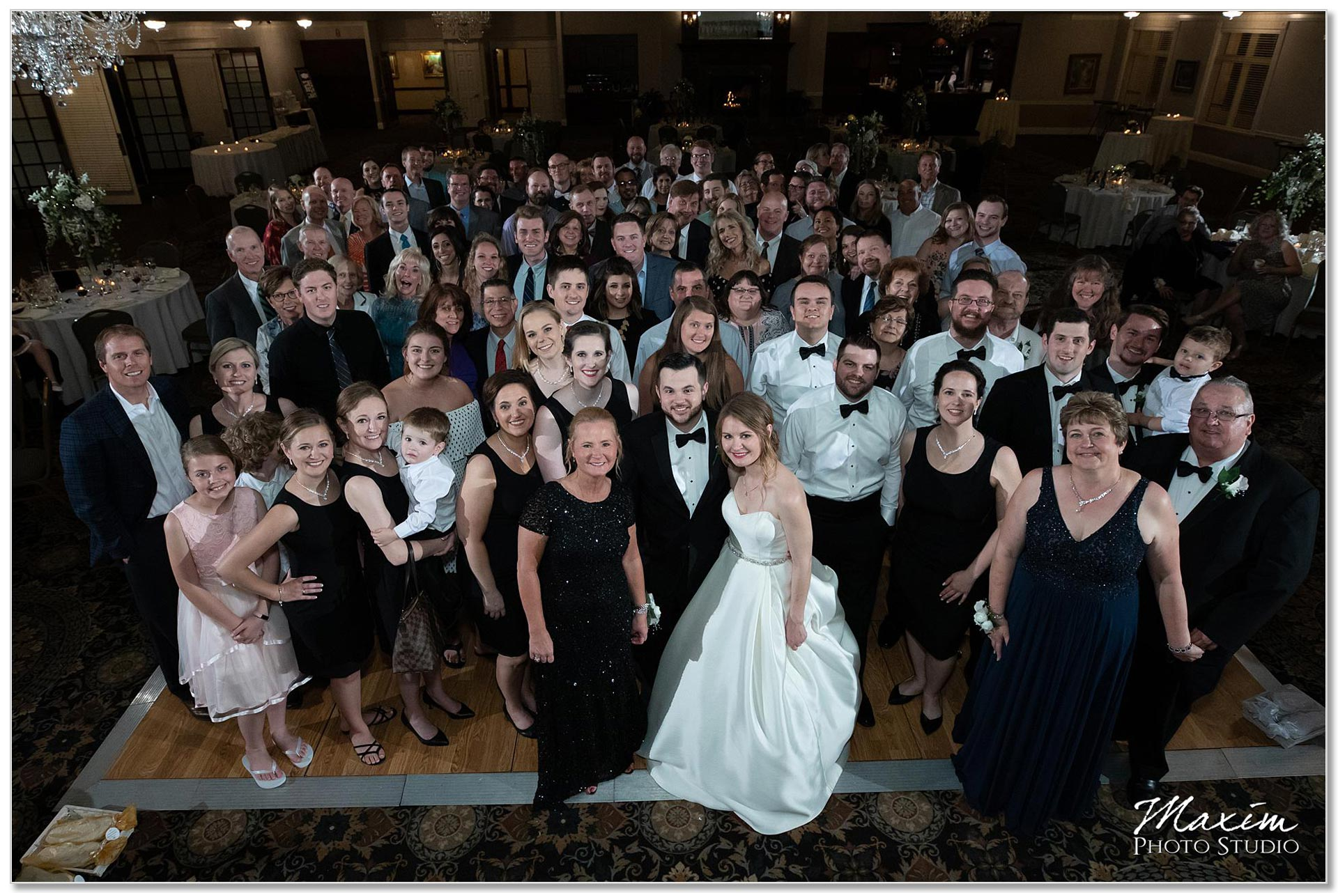 Party Pleasers DJ wedding reception group photo
