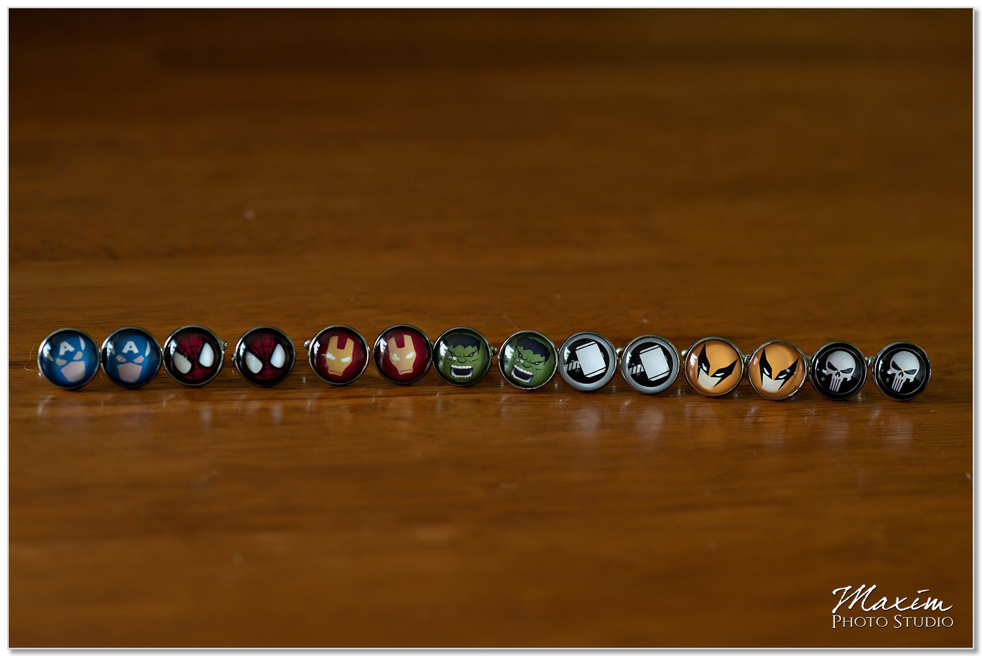Superheroes groomsmen cufflinks