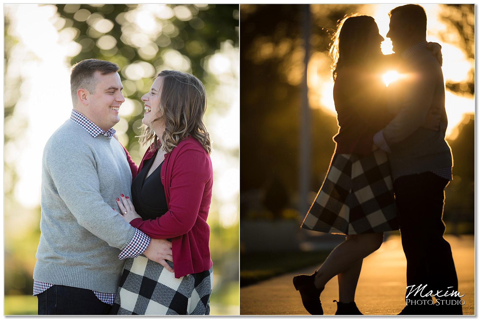 Sunset Smale Riverfront Park Cincinnati Engagement