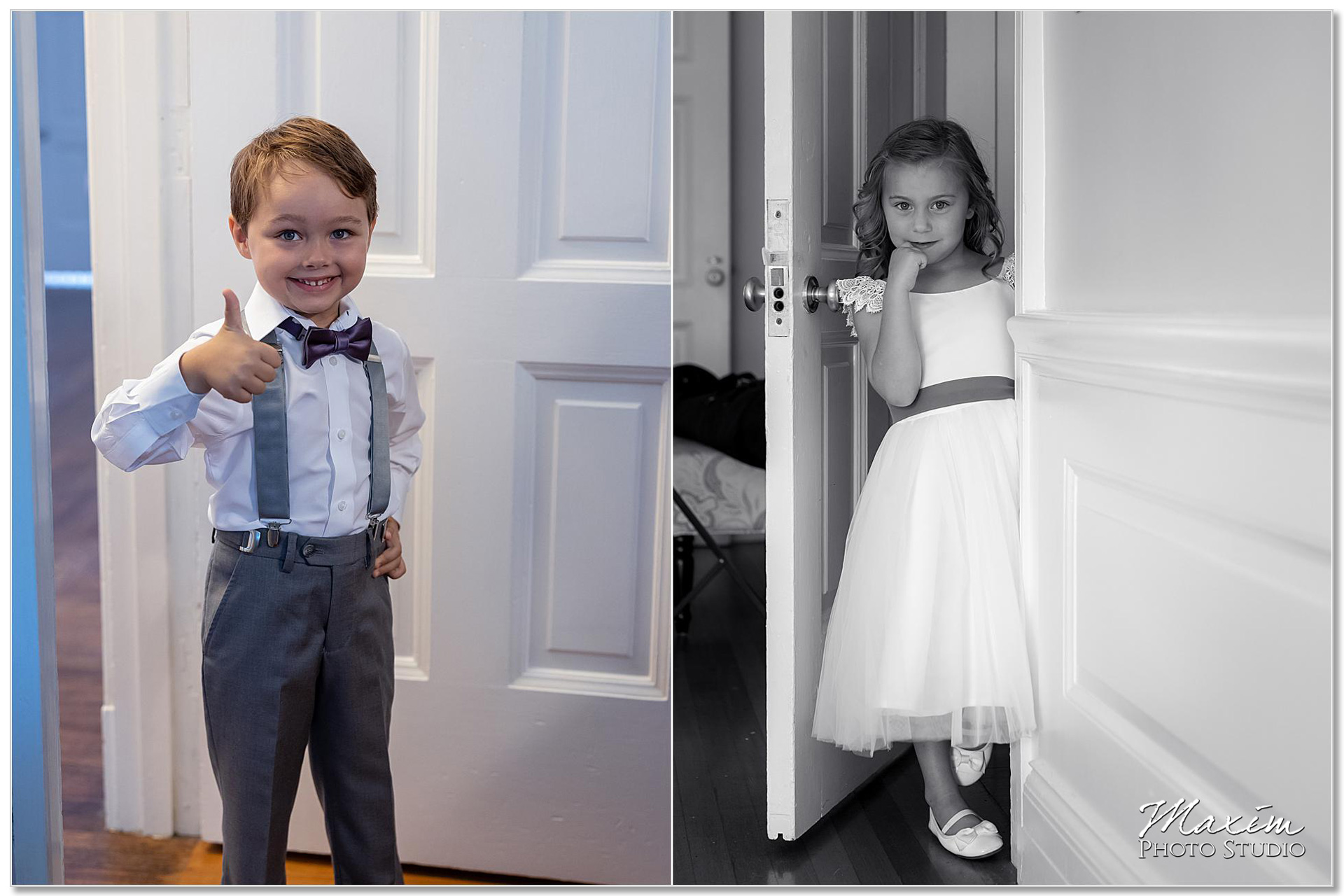 French House wedding ring bearer flower girl