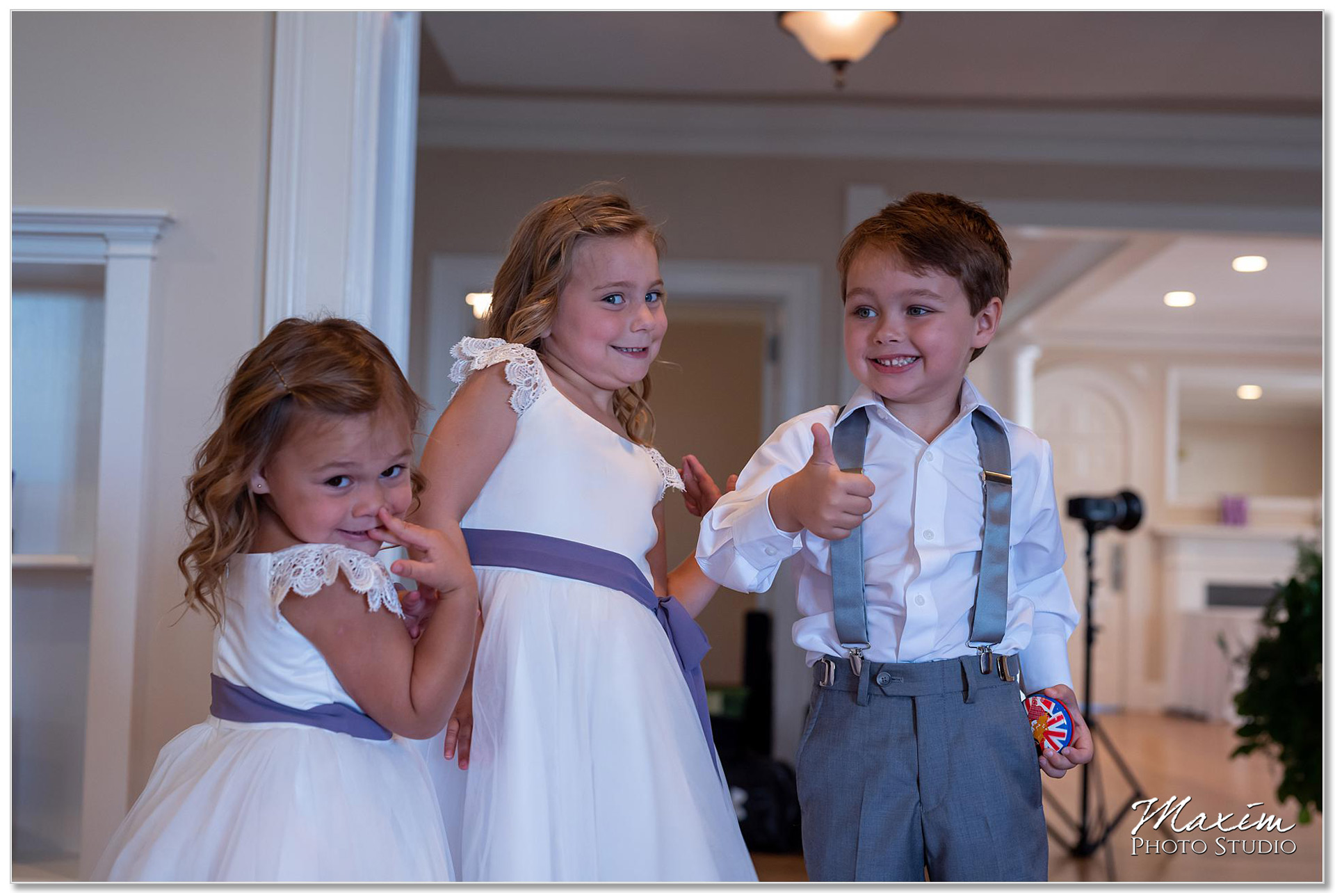 Flower girl ring bearer French Park Wedding