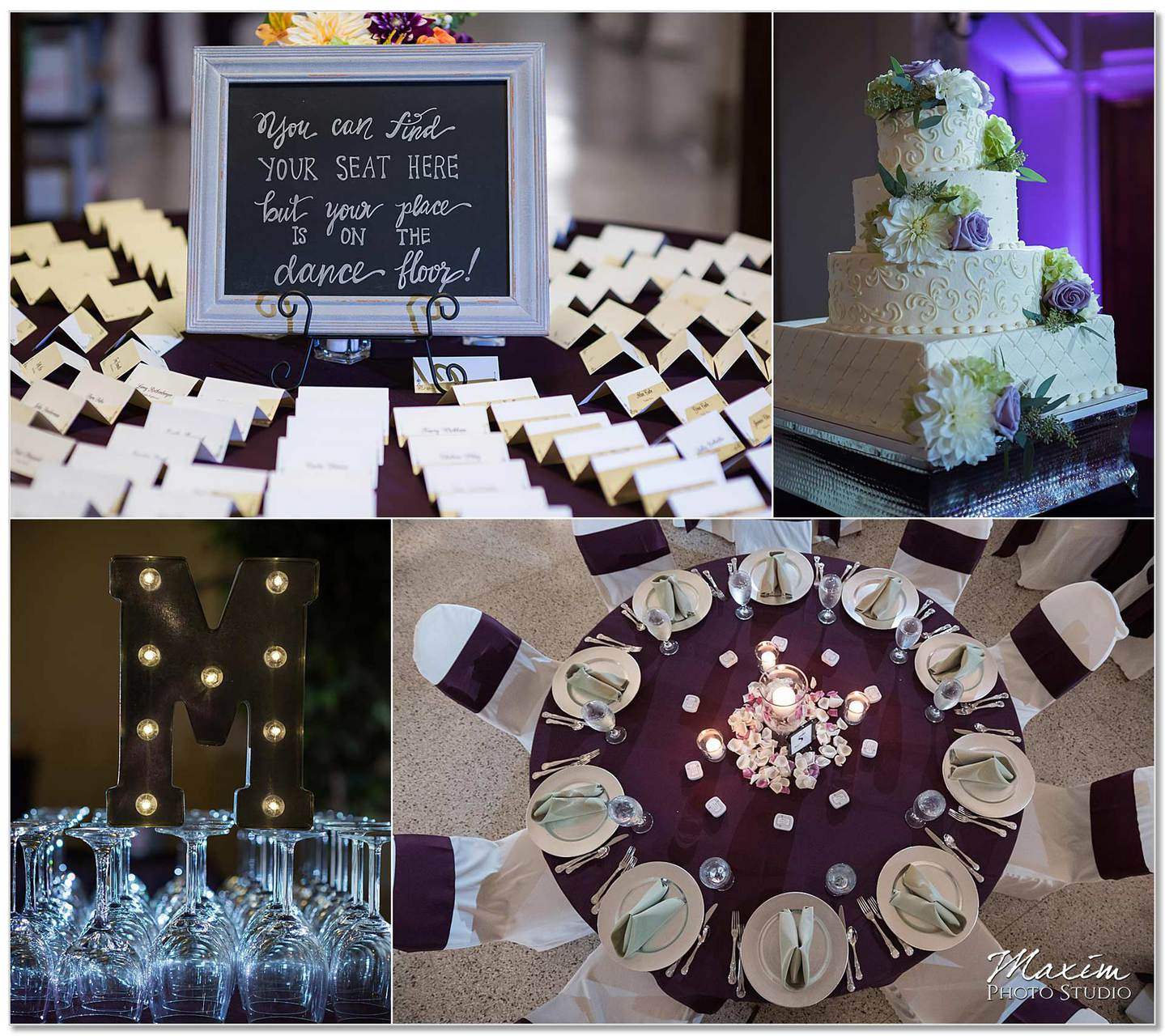 The Cakery Masonic Center Dayton Wedding reception Cake