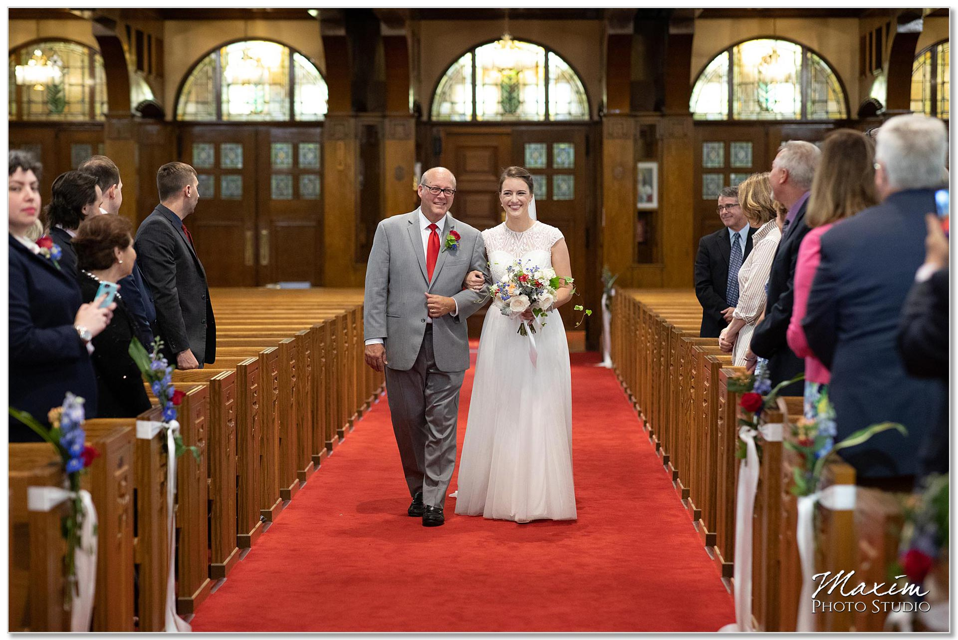 Bride at St. Joseph Catholic Church Ceremony