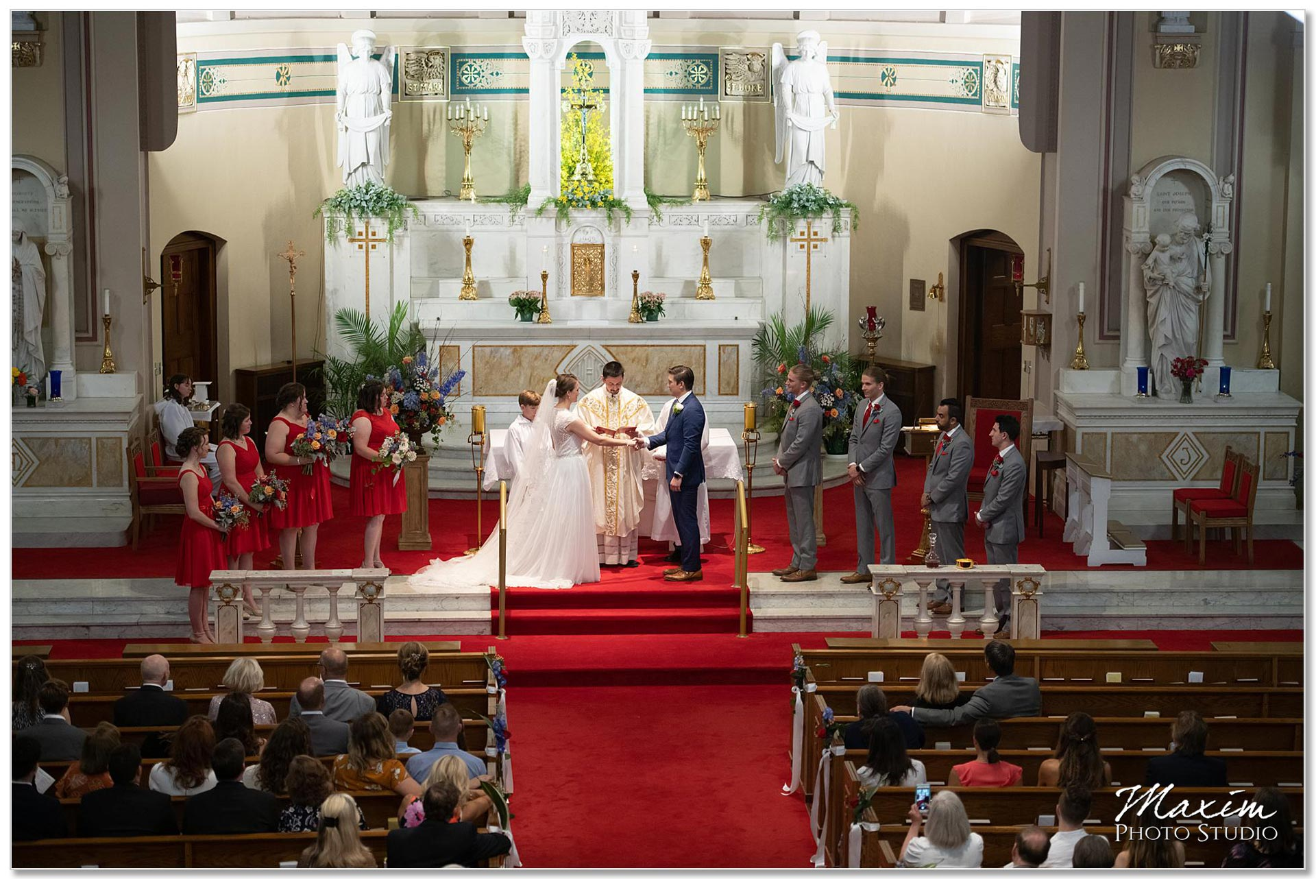 St. Joseph Catholic Church Ceremony bridal party