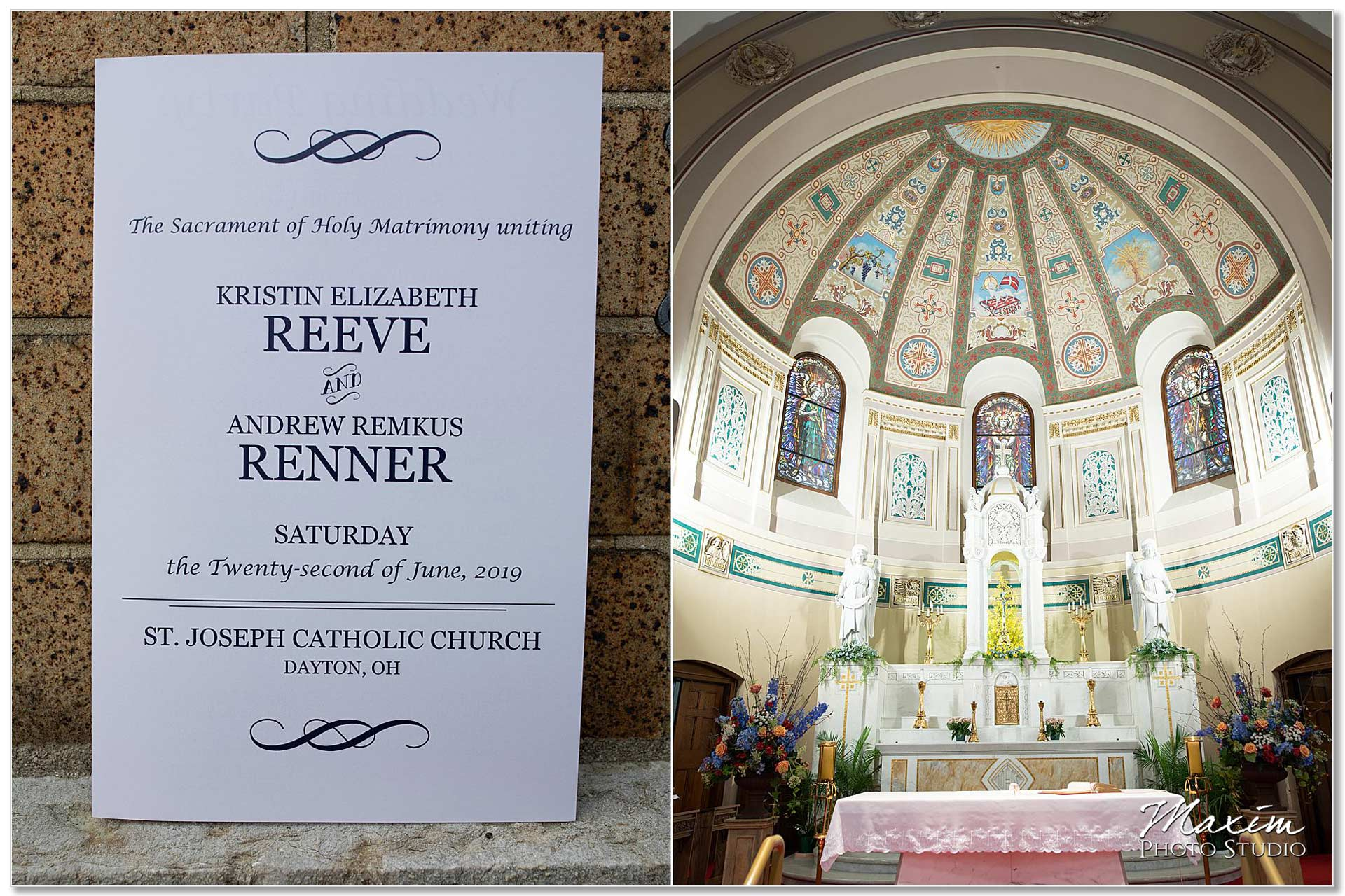 Wedding Dayton Ohio St. Joseph Catholic Church