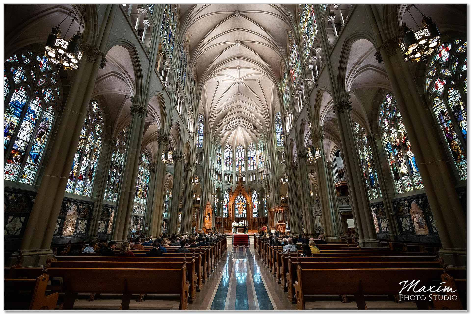 Inside Catholic Basilica of Assumption Covington Kentucky