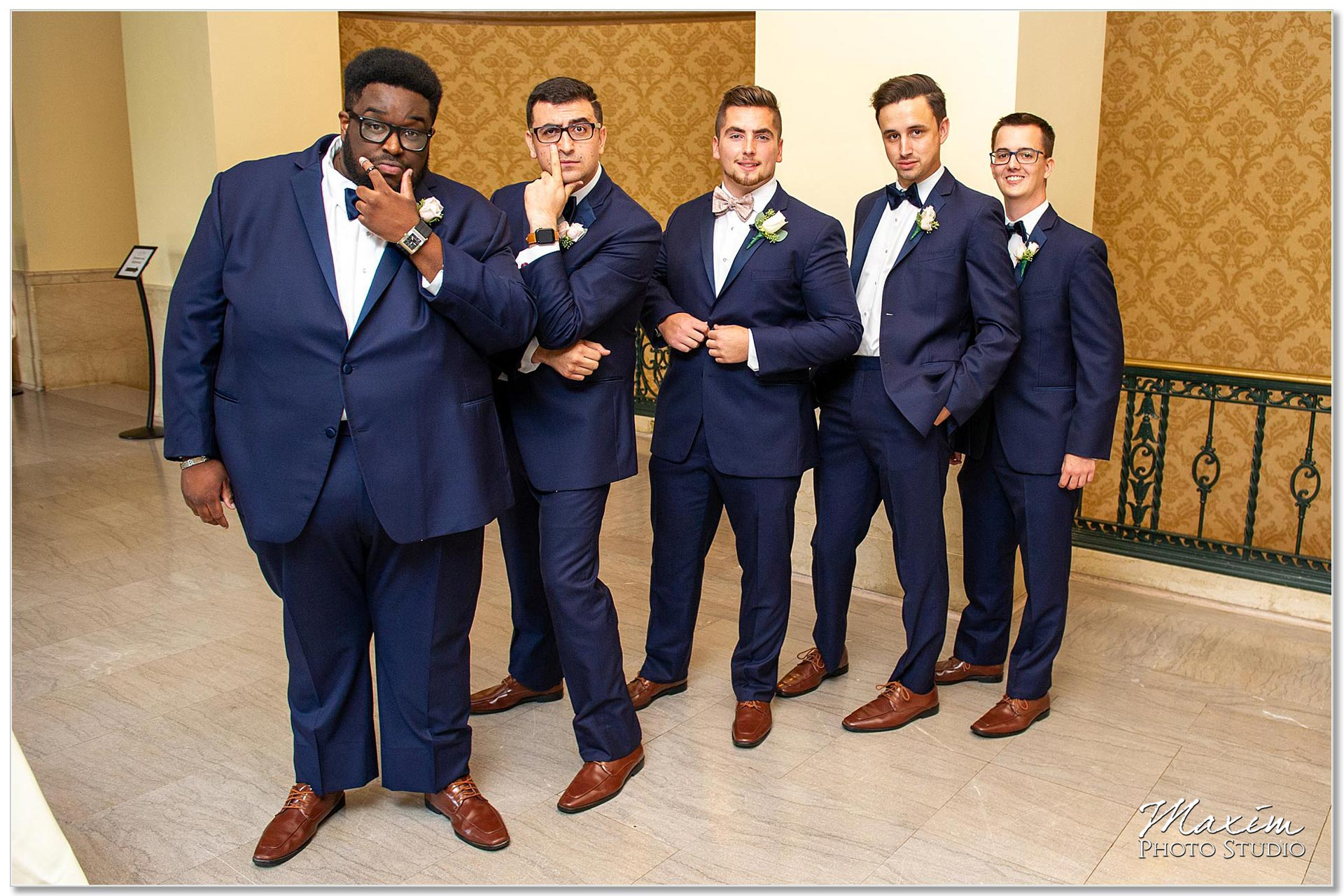Groom groomsmen wedding ceremony