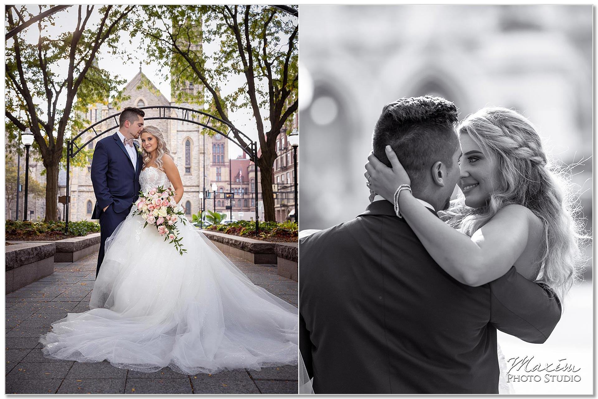 Garfield Park Cincinnati Wedding portraits Bride Groom