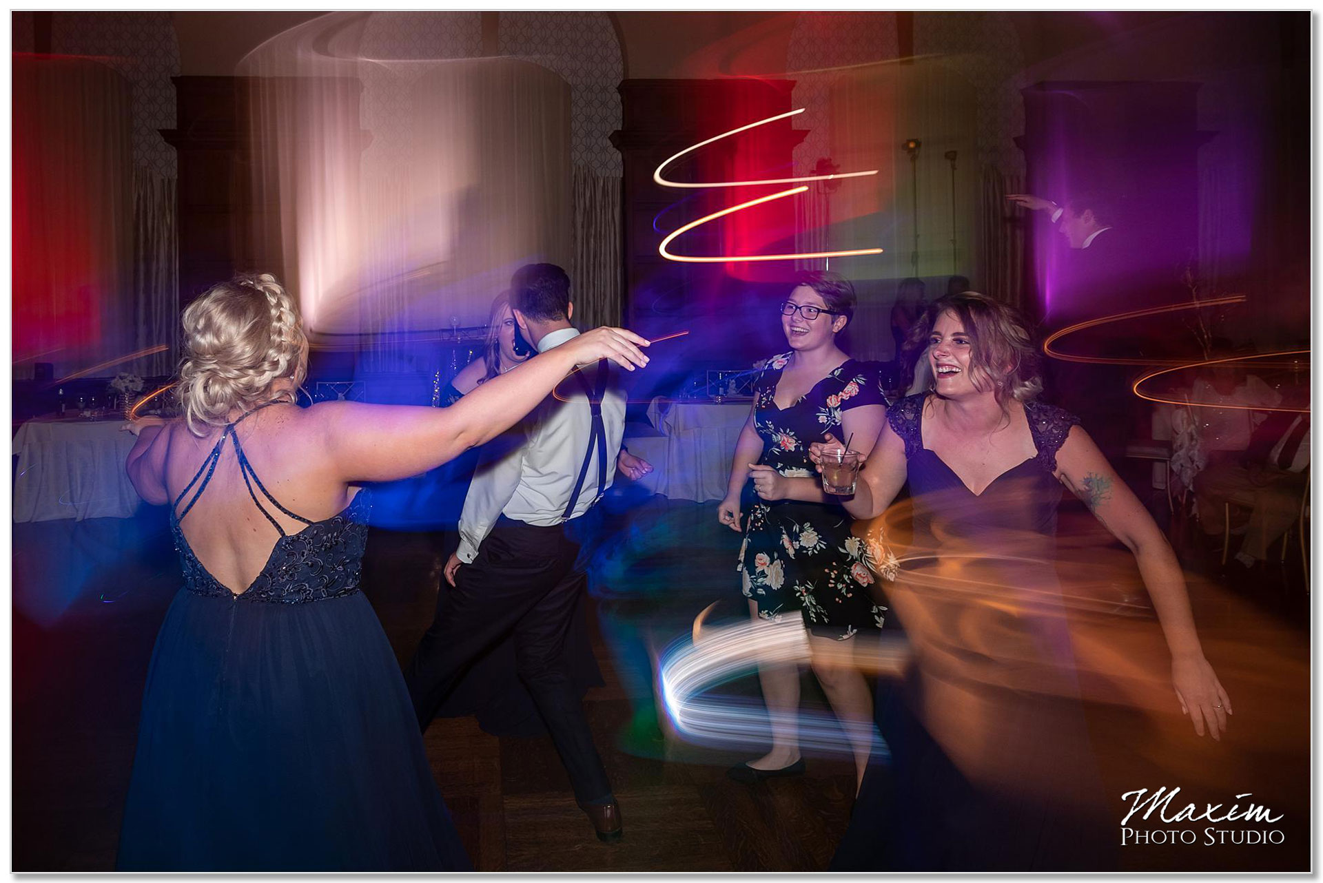 Fun Cincinnati Club Wedding reception dance