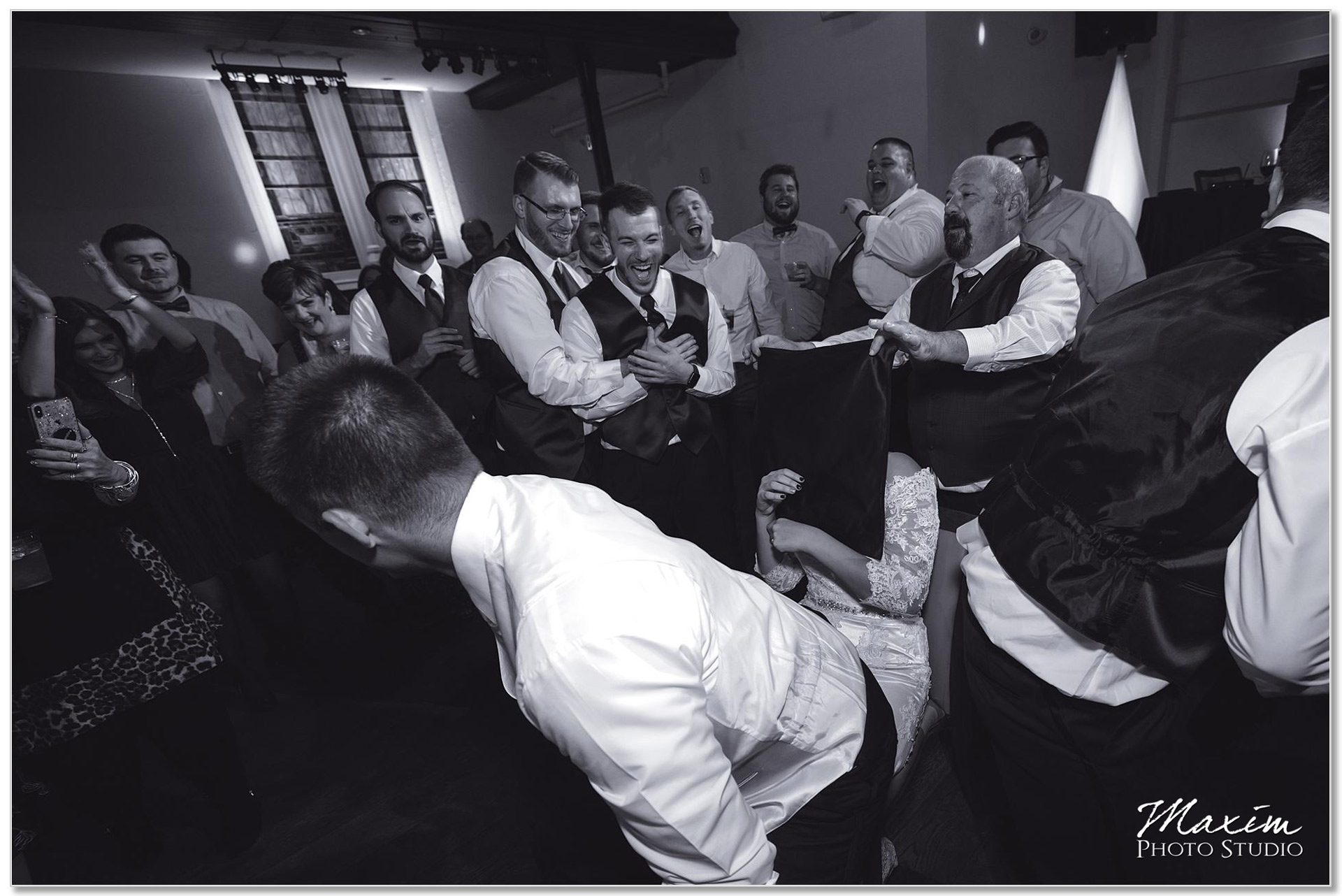 The transept Wedding reception fun