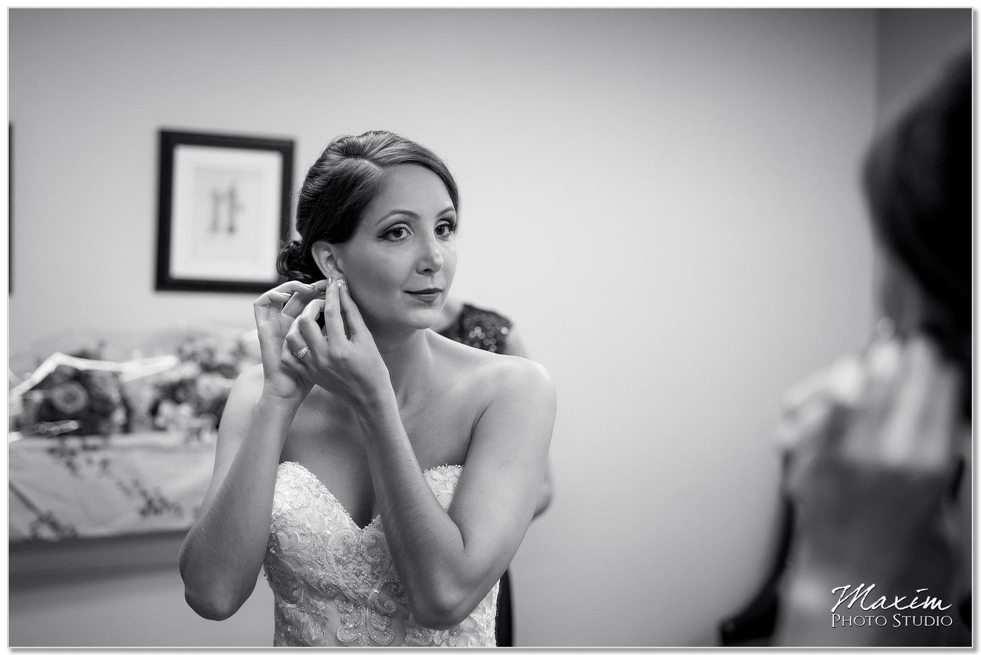 The Grand Ballroom Covington KY Wedding Preparations Black and white