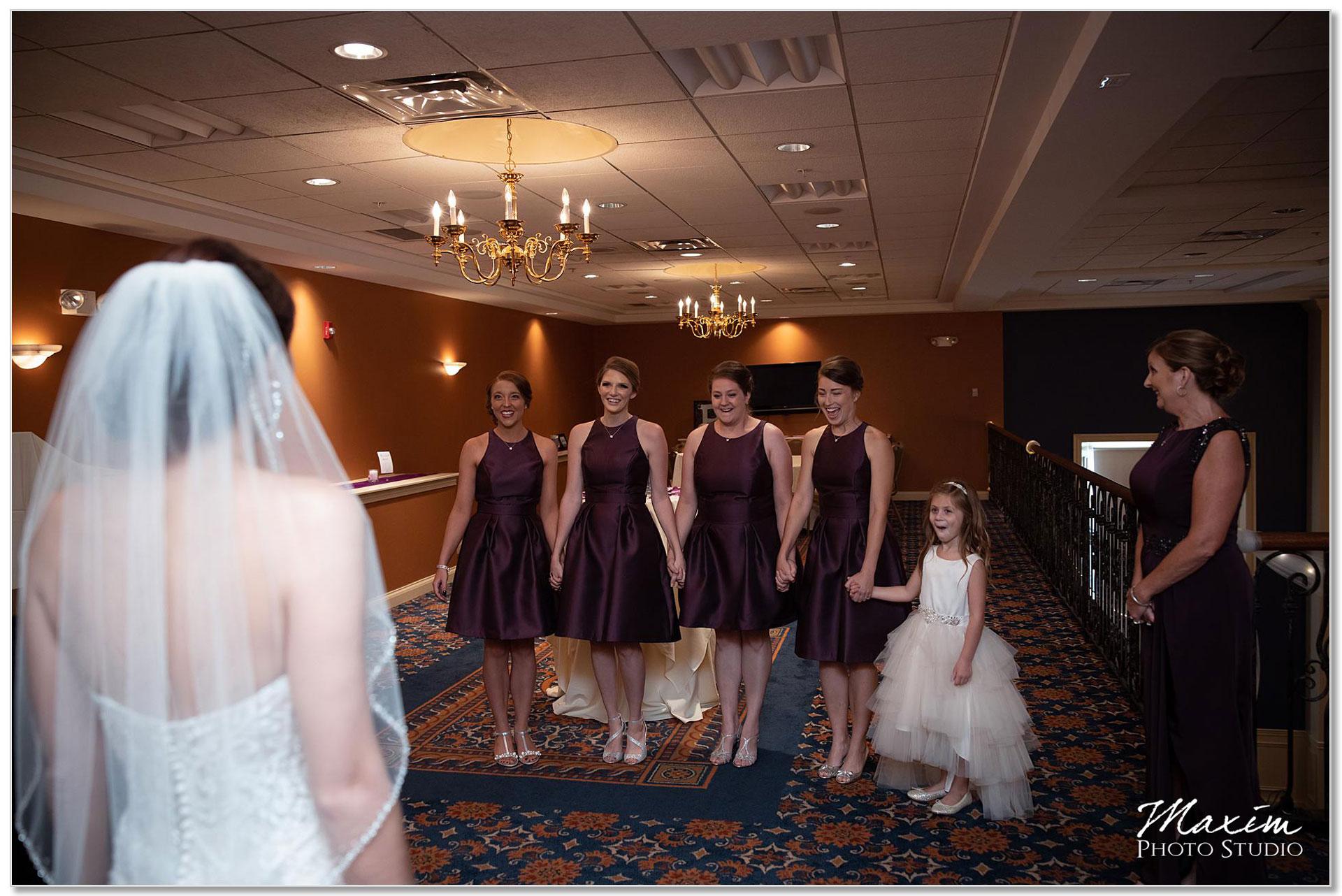 The Grand Ballroom bride first look