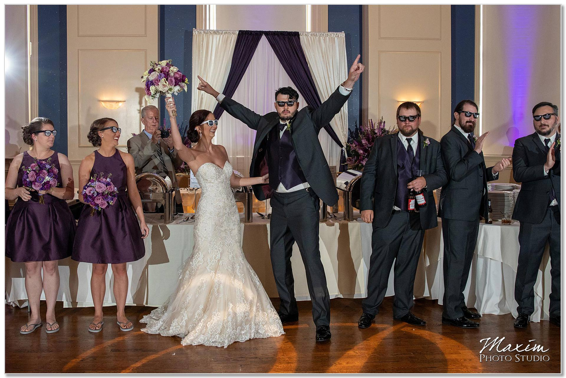 The Grand Wedding Reception Bride Groom