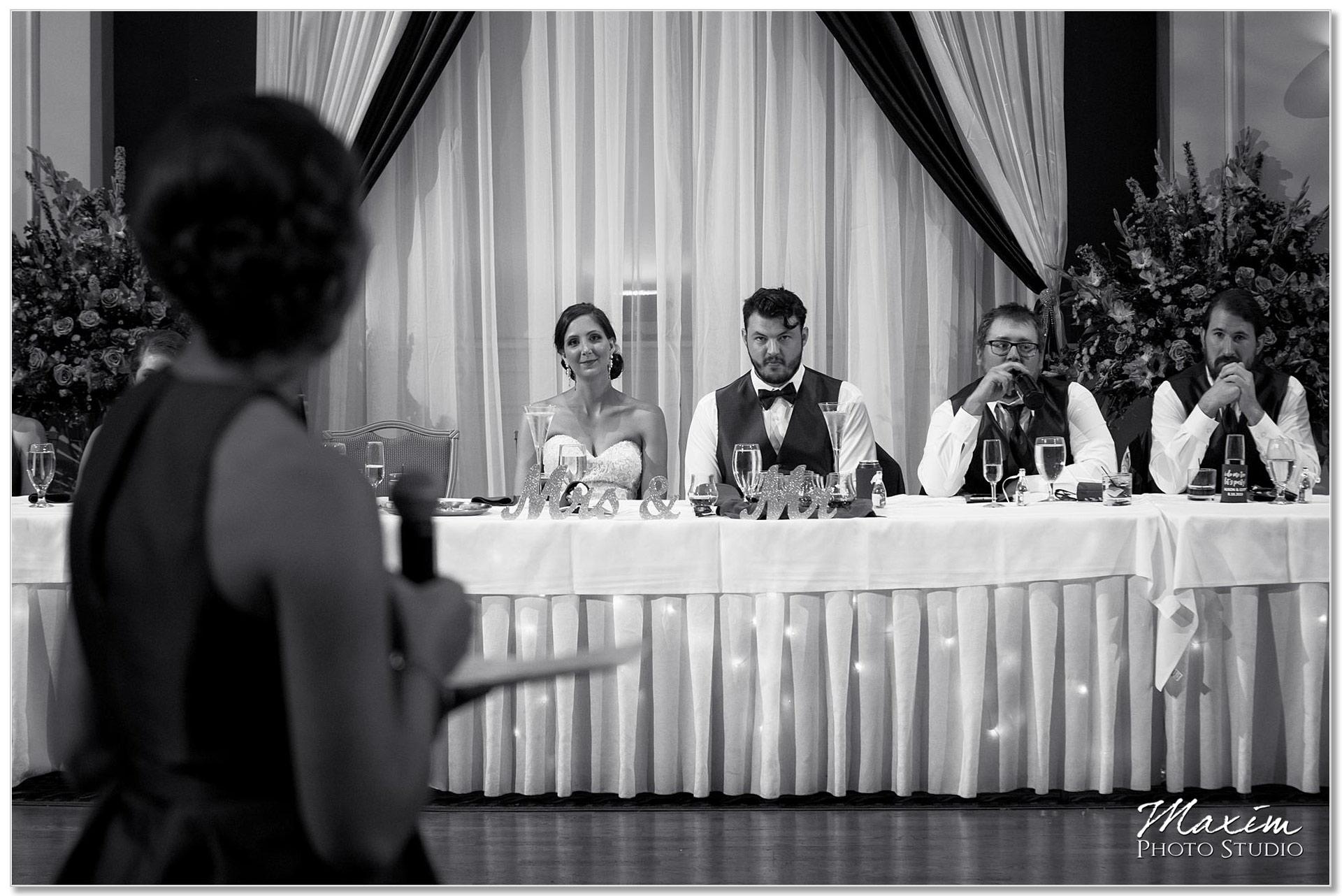 The Grand Wedding Reception toasts