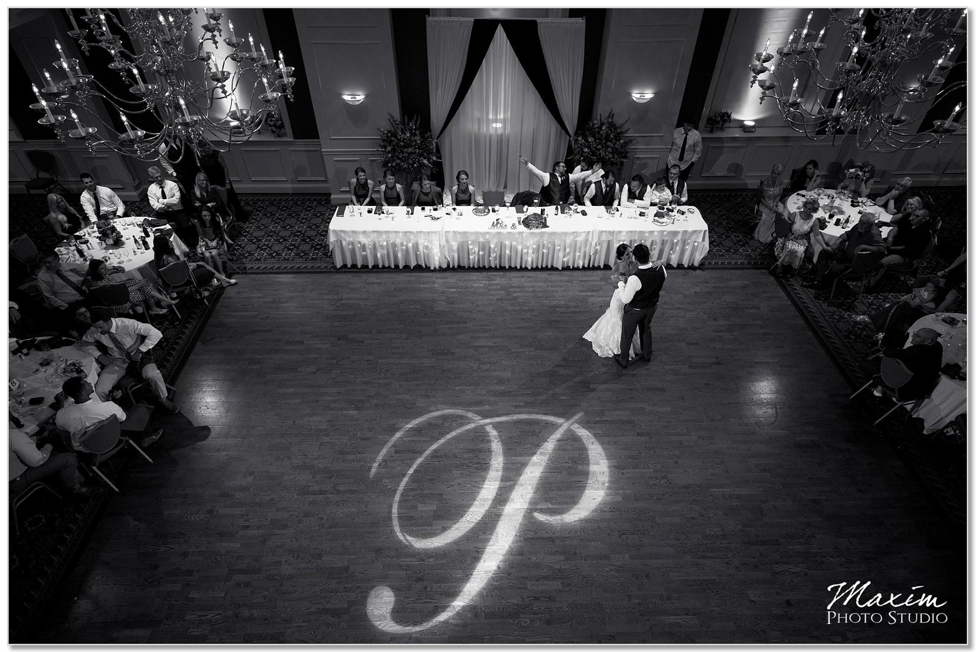 The Grand Ballroom Wedding Reception dancing