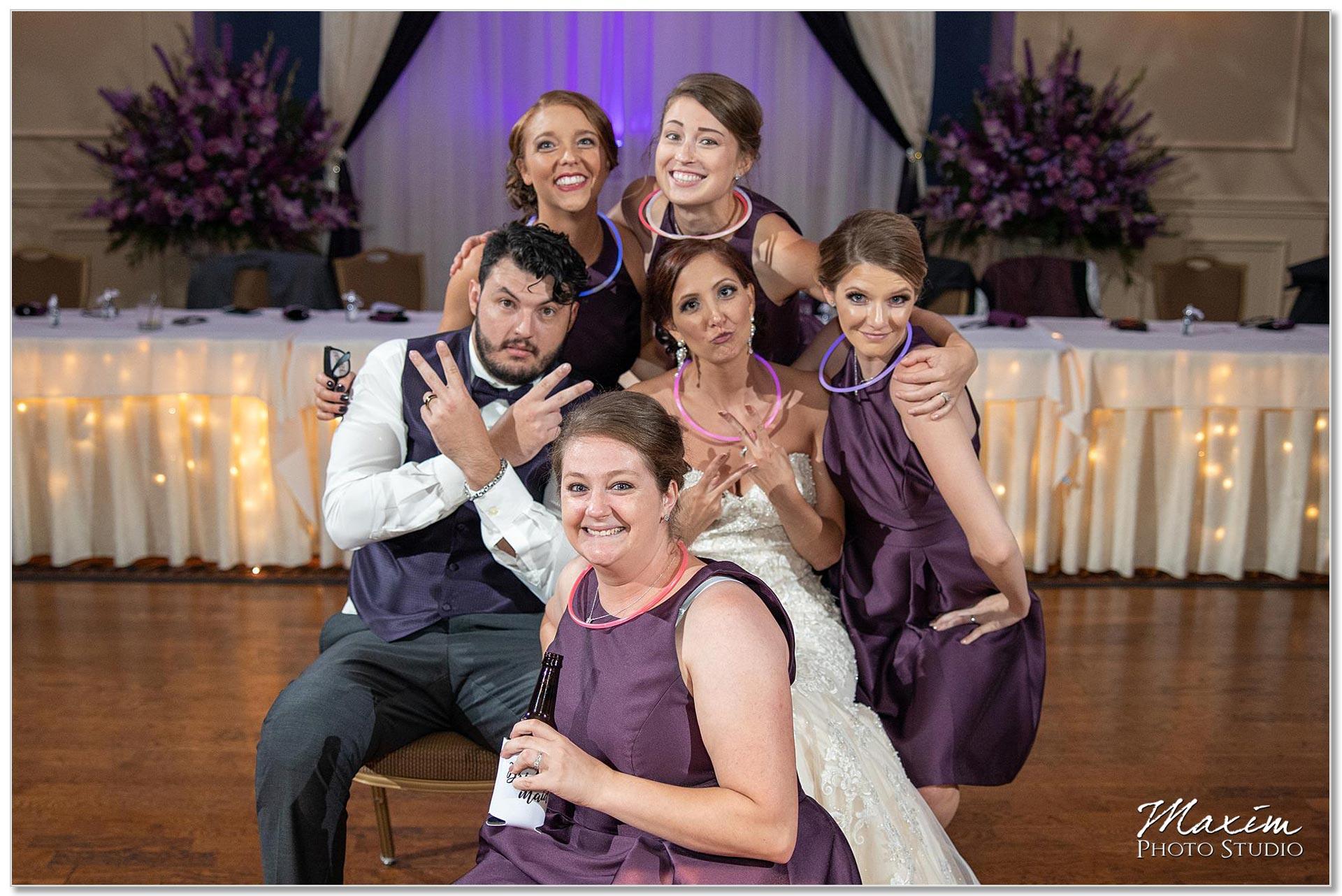 Wedding Reception McHales Catering Grand Ballroom Photo Bomb