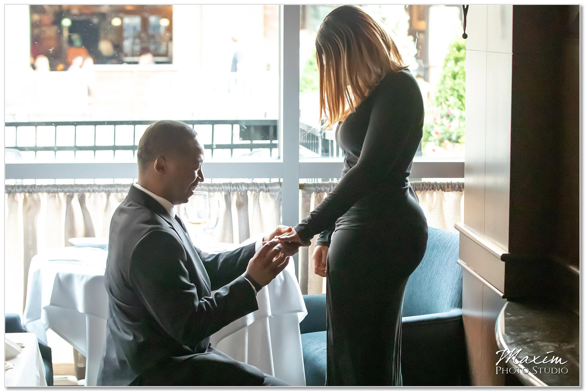 Ruth Chris Steakhouse surprise proposal