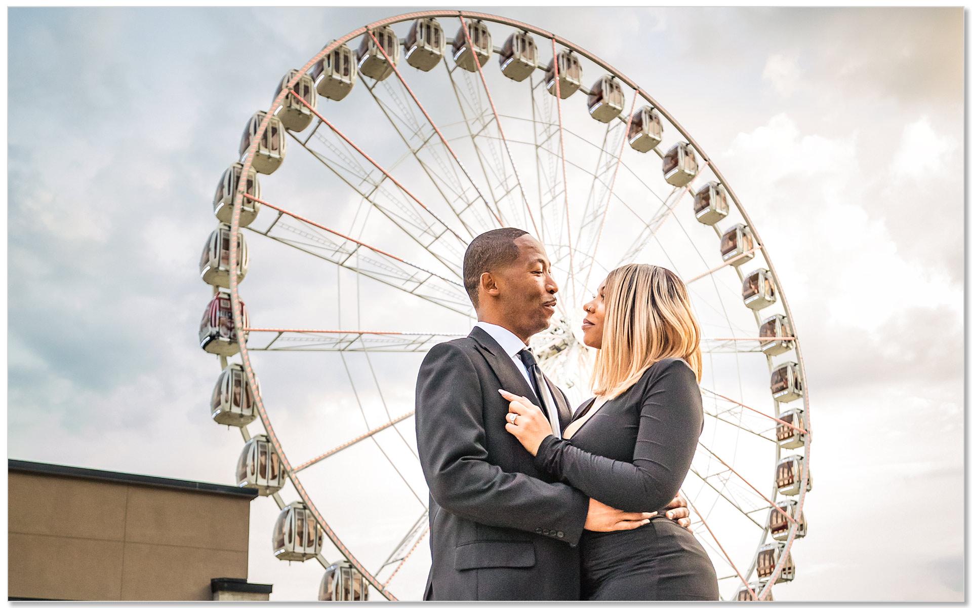 Secret wedding proposal Cincinnati SkyStar