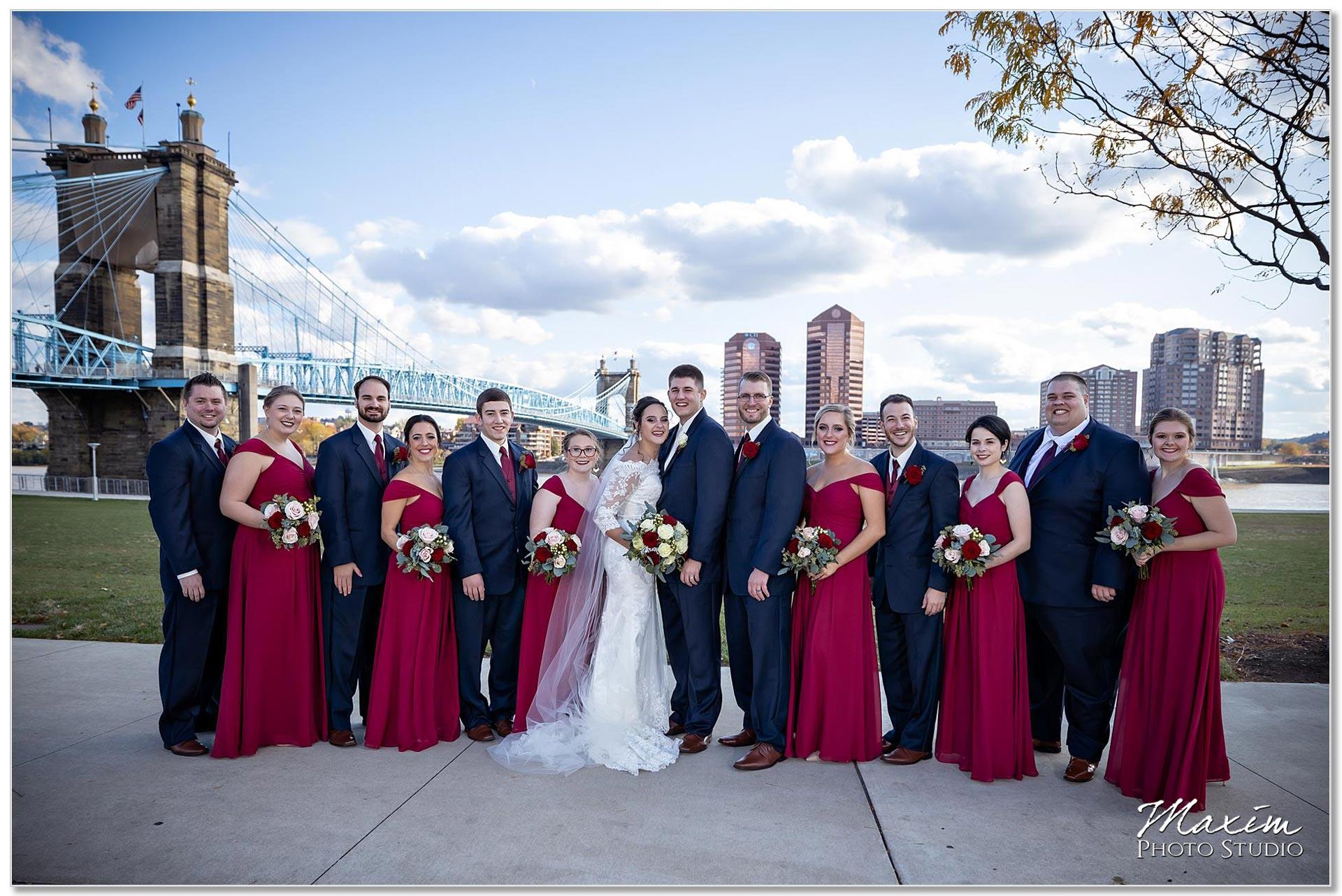 Smale Riverfront Park Wedding portraits bridal party