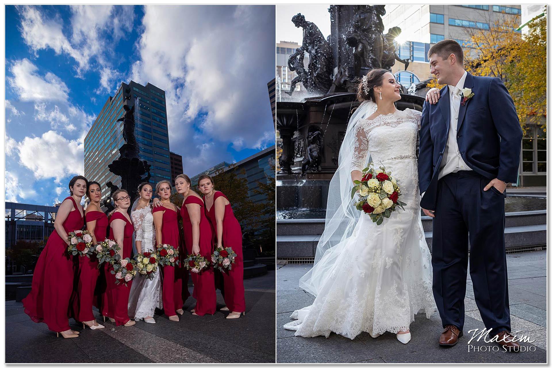 Smale Riverfront Park bride groom