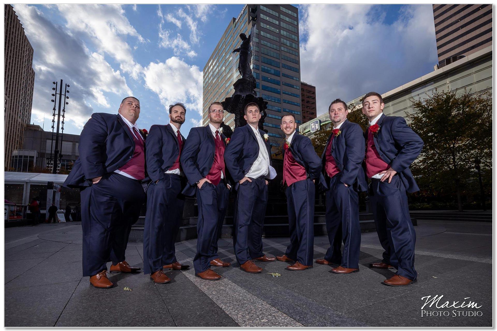 Smale Riverfront Park groomsmen
