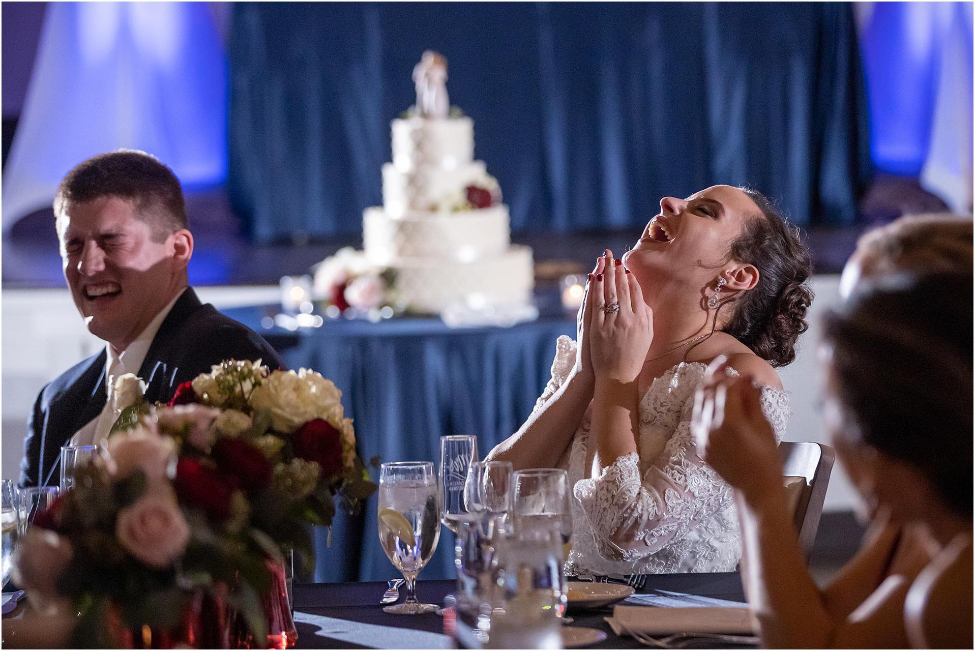 The Transept wedding reception bride toast
