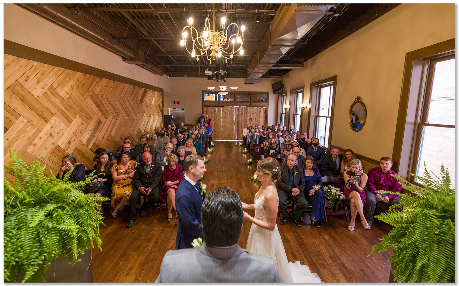 Backstage Event Center Wedding Ceremony