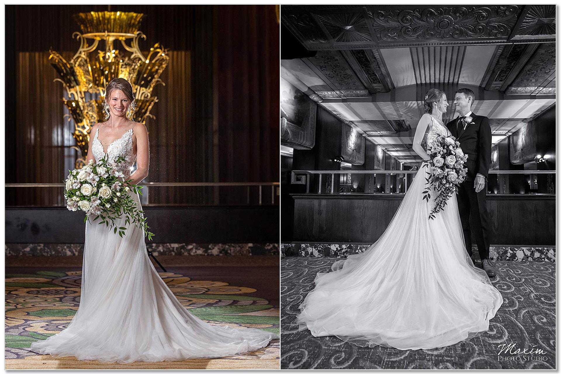 Hilton Netherland Plaza Hotel Bride Groom Portraits