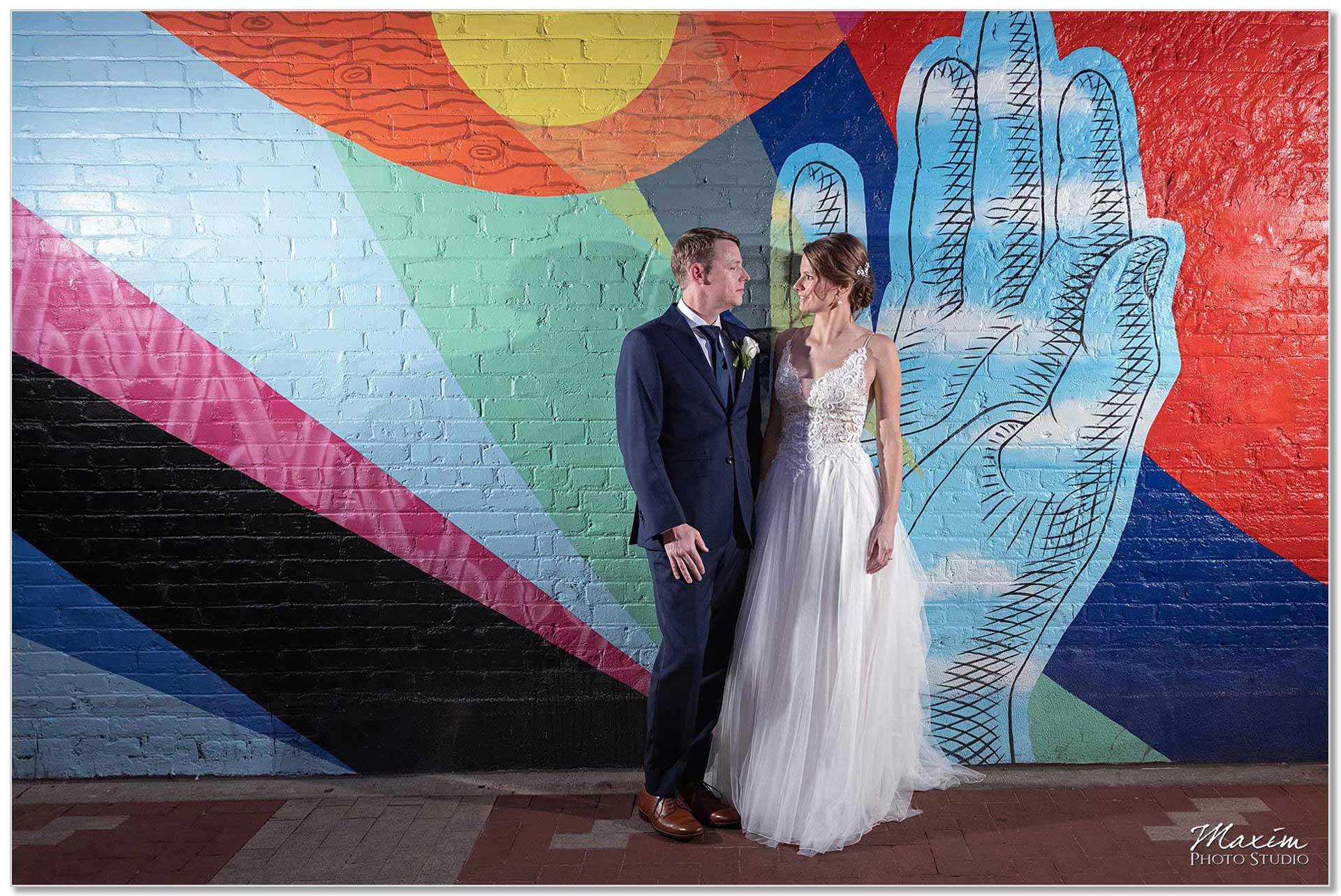 Nicholson Alley Cincinnati Wedding Bride Groom