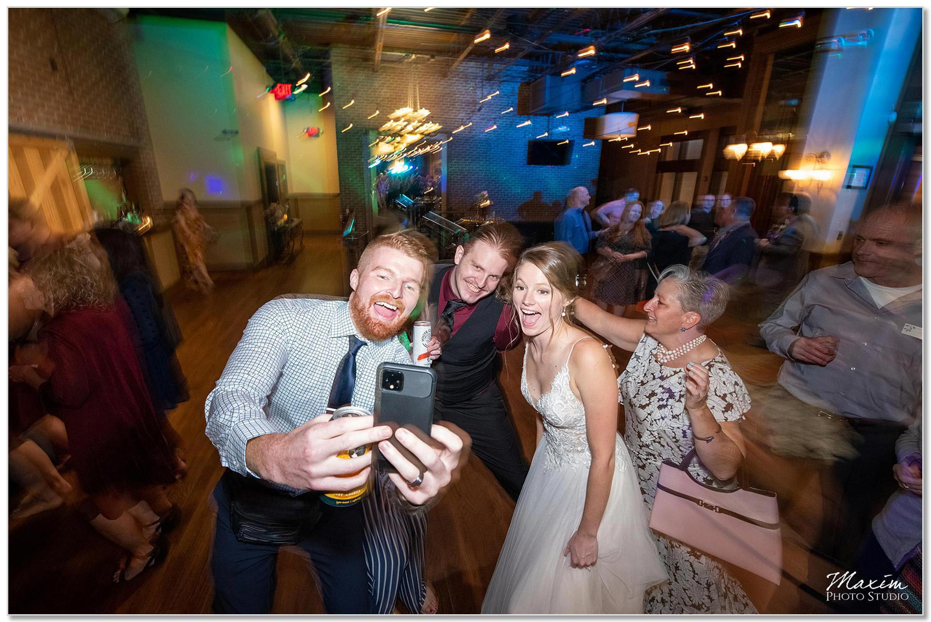Backstage Event Center Wedding Reception Guests dancing