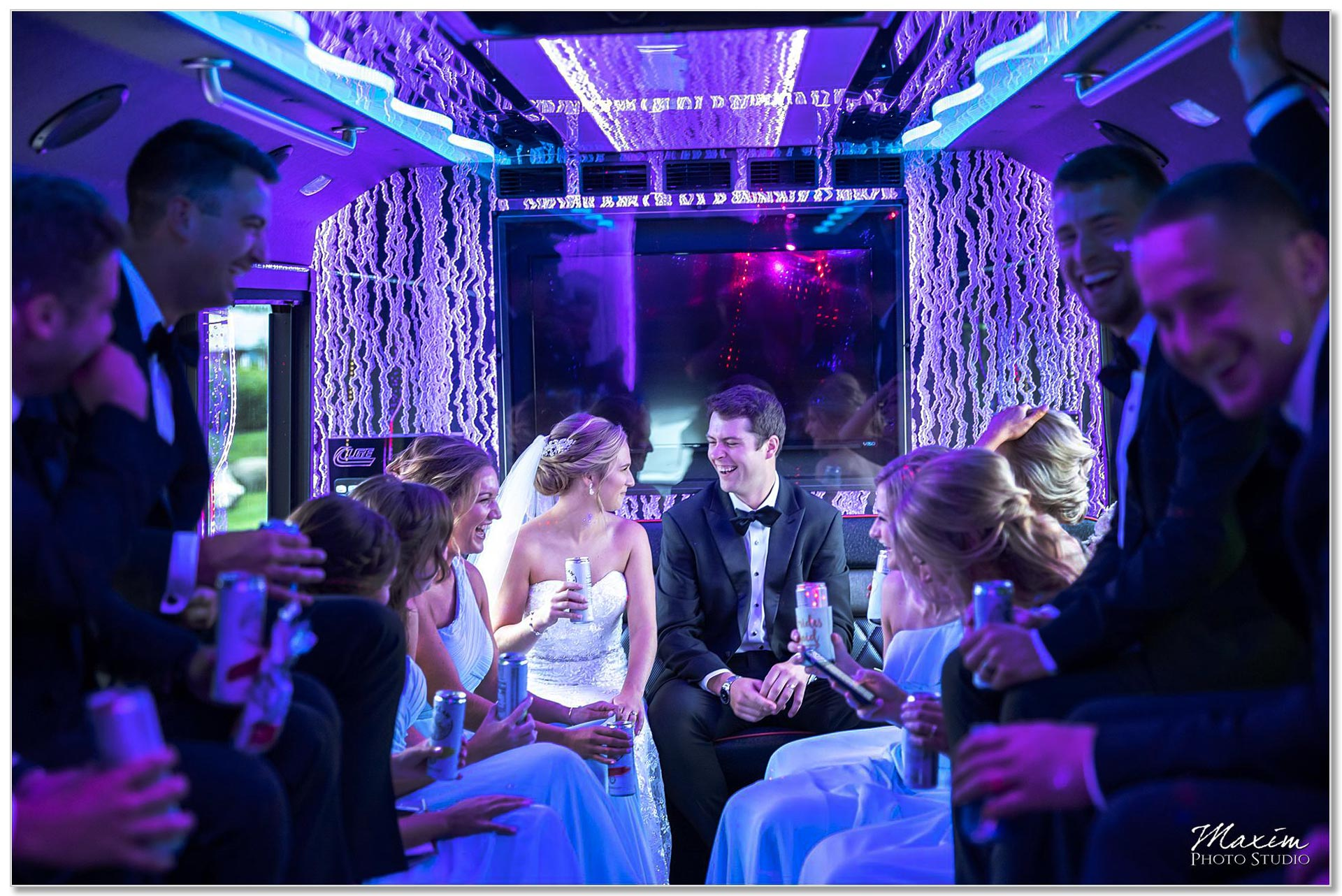 Wright Party Bus bride groom