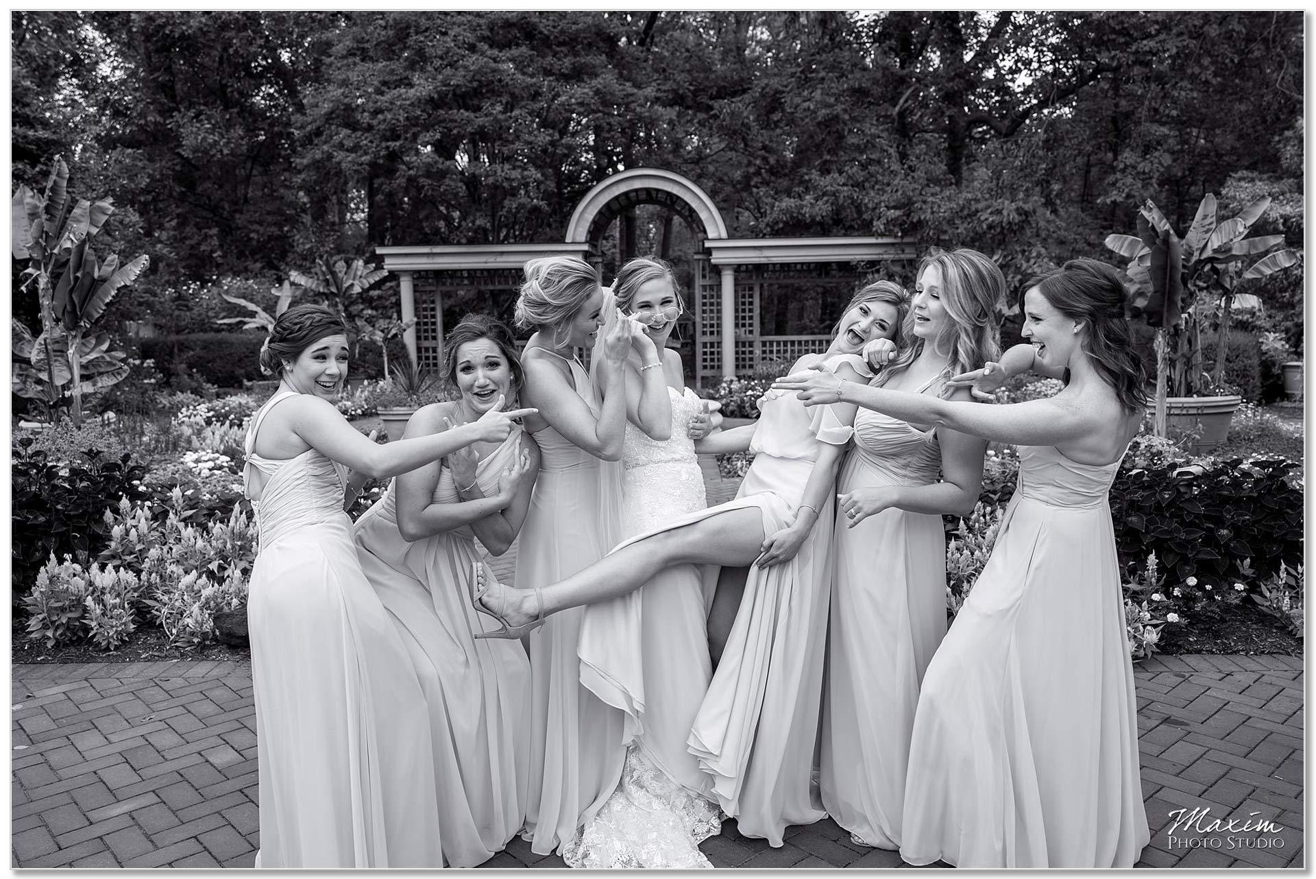 Wegerzyn Gardens Bride bridesmaids pictures