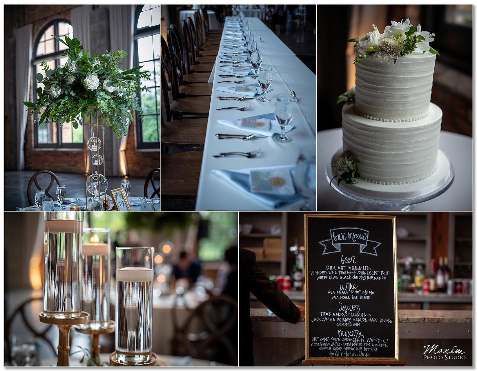 The Steam Plant Wedding Decor