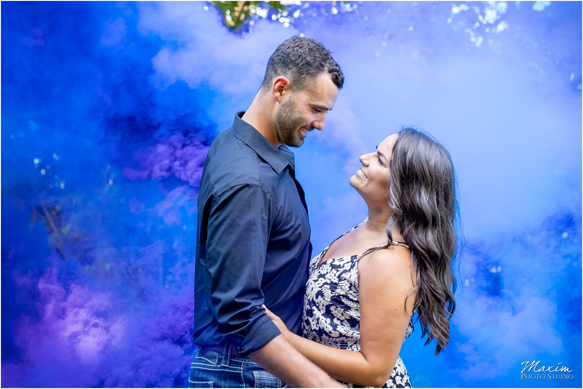 Smoke bombs springboro Ohio engagement