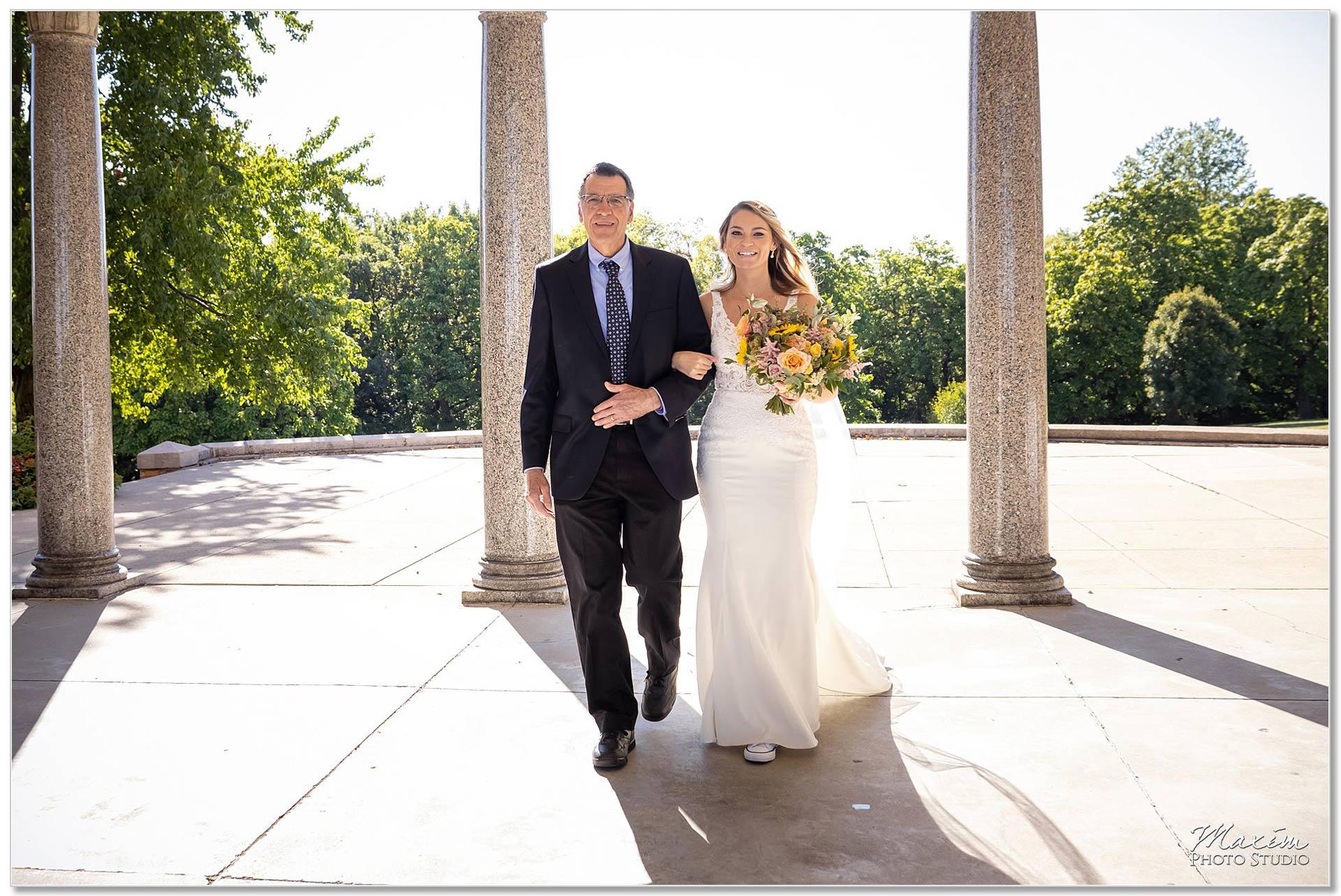 Mt. Echo Park Cincinnati Wedding Ceremony entrance