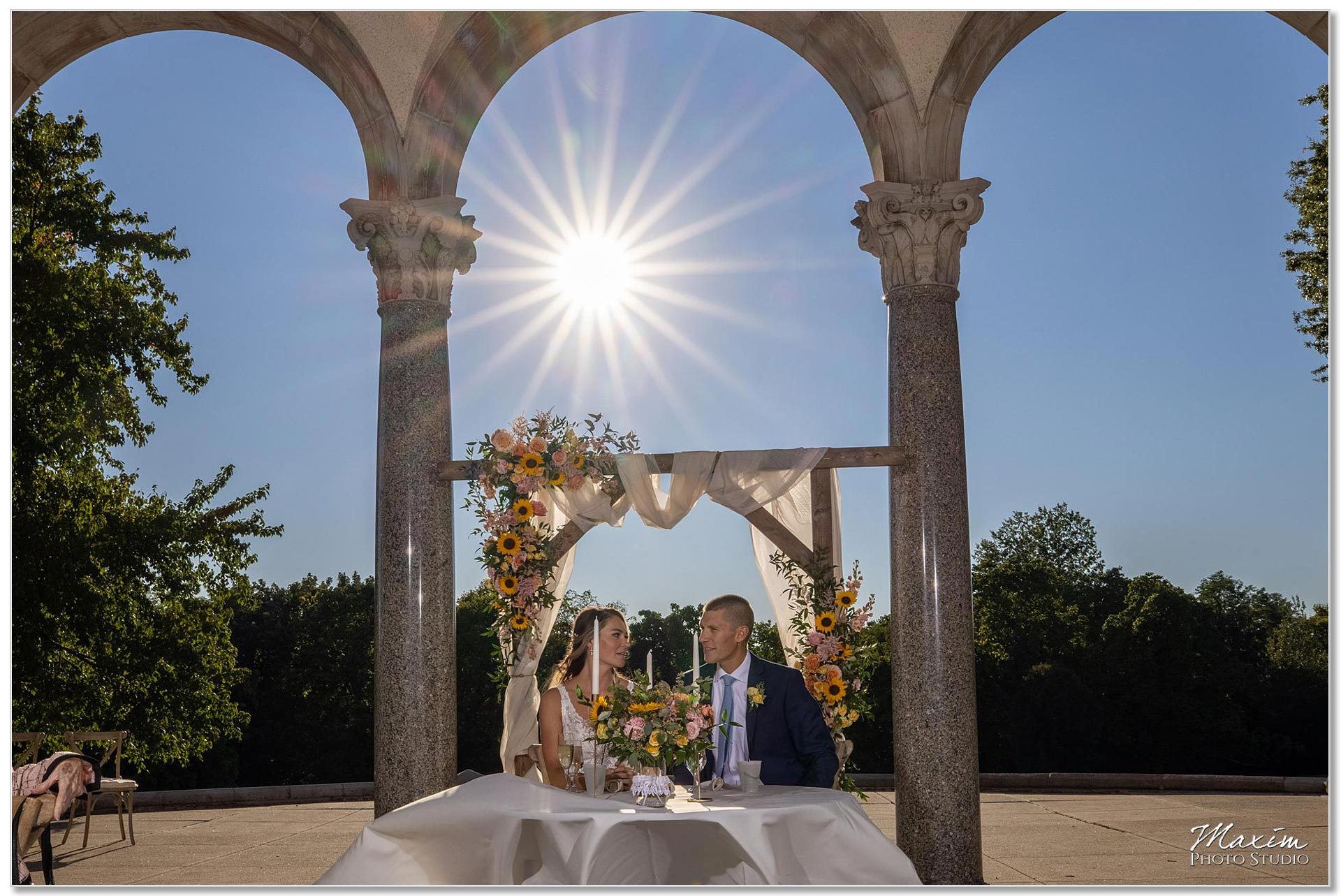 Mt. Echo Park Cincinnati Wedding Reception Sweetheart table
