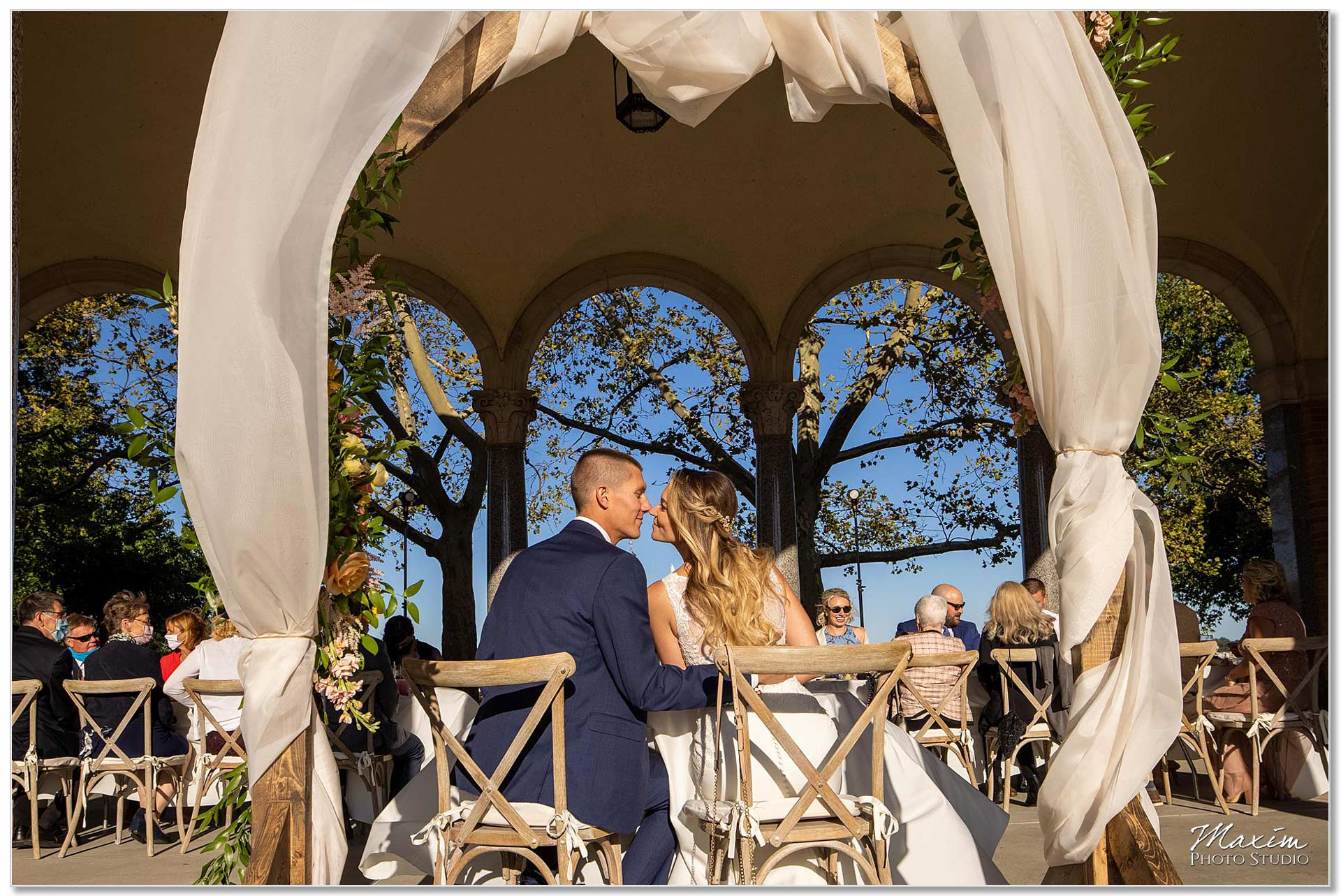 Mt. Echo Park Cincinnati Wedding Reception Couple