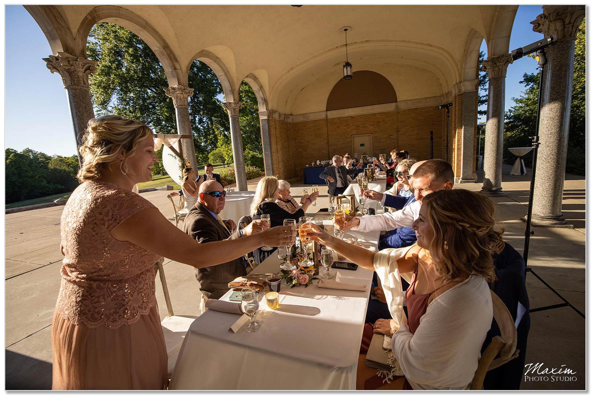 Mt. Echo Park Cincinnati Wedding Reception toast