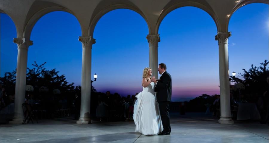 Ault Park Cincinnati wedding photography sunset