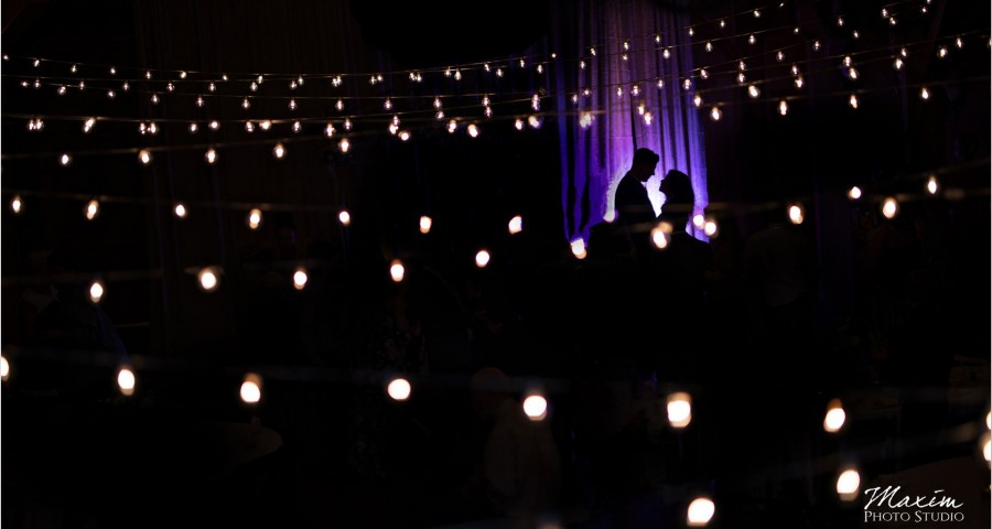 Canopy Creek Dayton Oh wedding Reception bistro lights